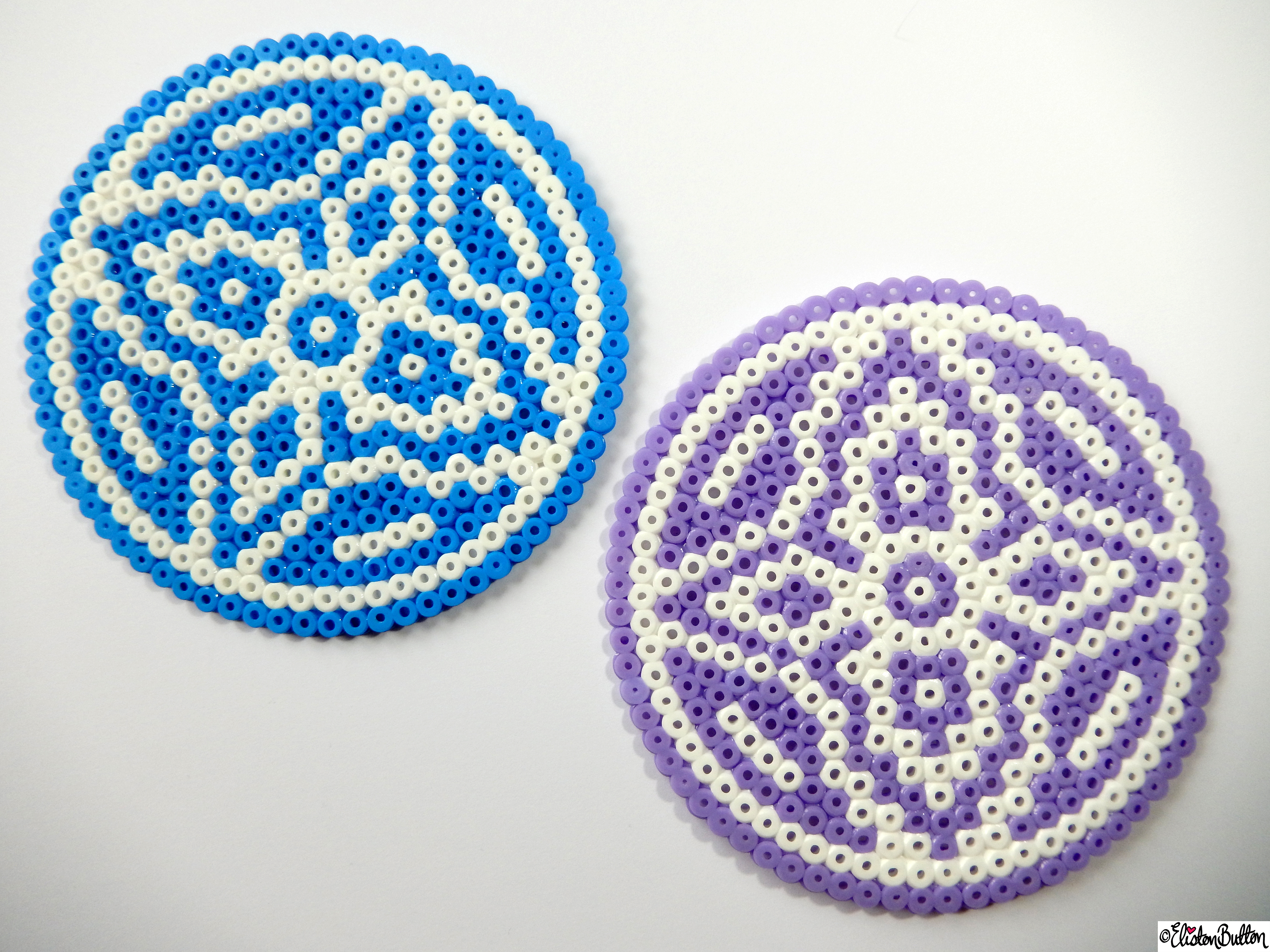 Large Picture and Hama Bead Patterned Coasters Together - Create 28 - No. 9&10 - Picture Bead Coasters at www.elistonbutton.com - Eliston Button - That Crafty Kid – Art, Design, Craft & Adventure.