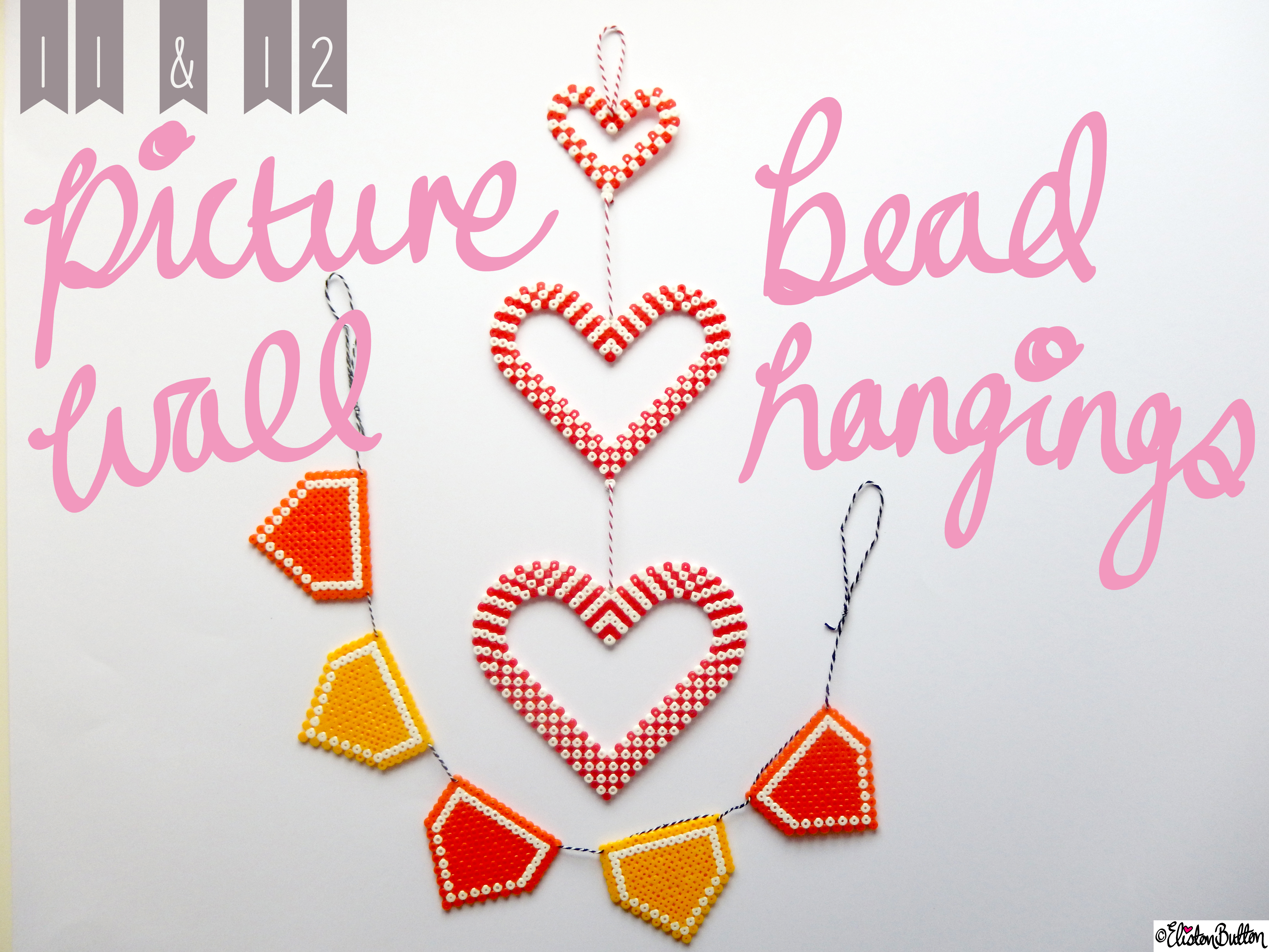 Picture Bead Wall Hangings Title Picture - Create 28 - No. 11&12 - Picture Bead Wall Hangings at www.elistonbutton.com - Eliston Button - That Crafty Kid – Art, Design, Craft & Adventure.