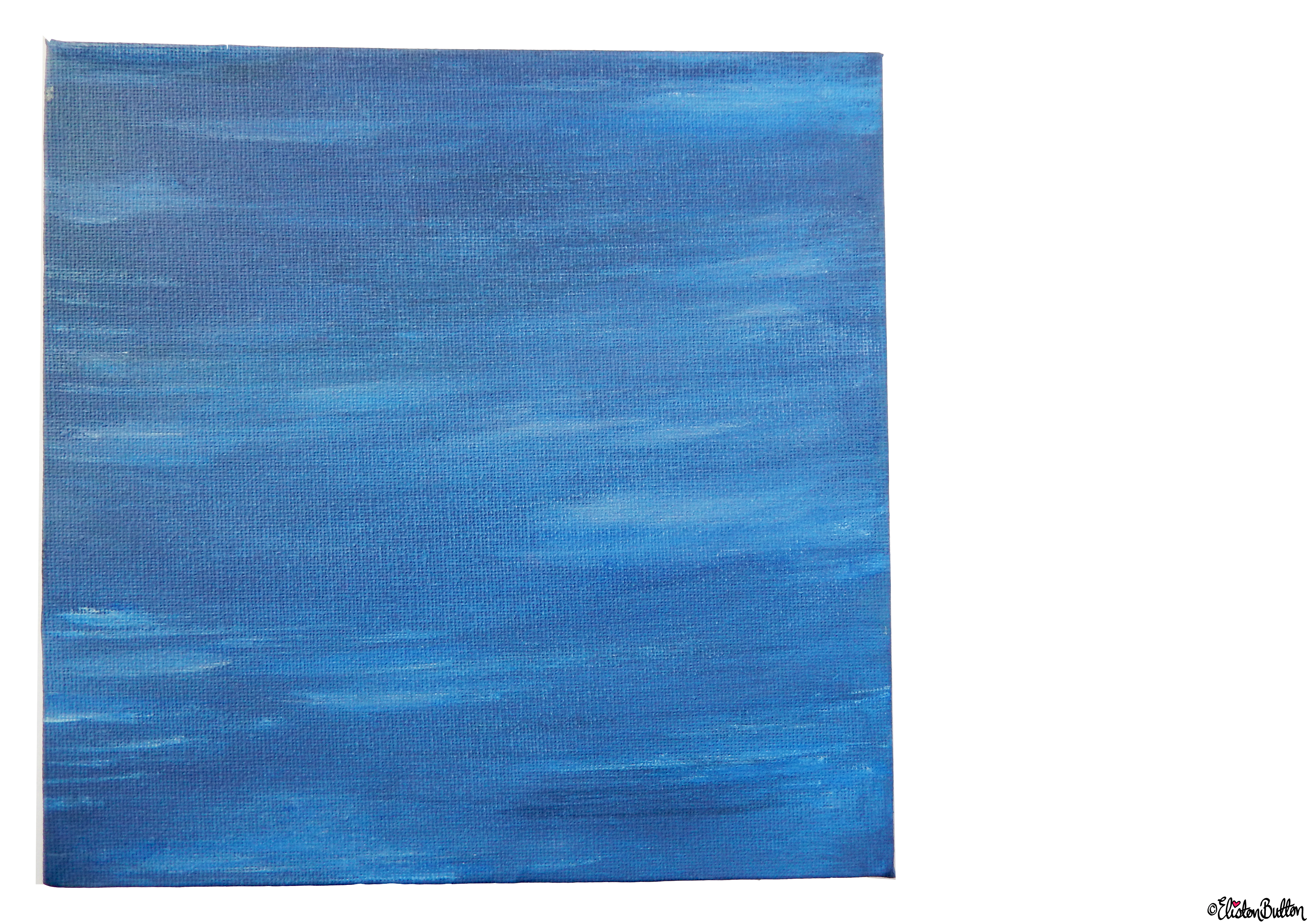 Calm Waters Painted Canvas - Full Front View - Create 28 - No. 16, 17 & 18 - Sea and Sky Painted Canvases at www.elistonbutton.com - Eliston Button - That Crafty Kid – Art, Design, Craft & Adventure.
