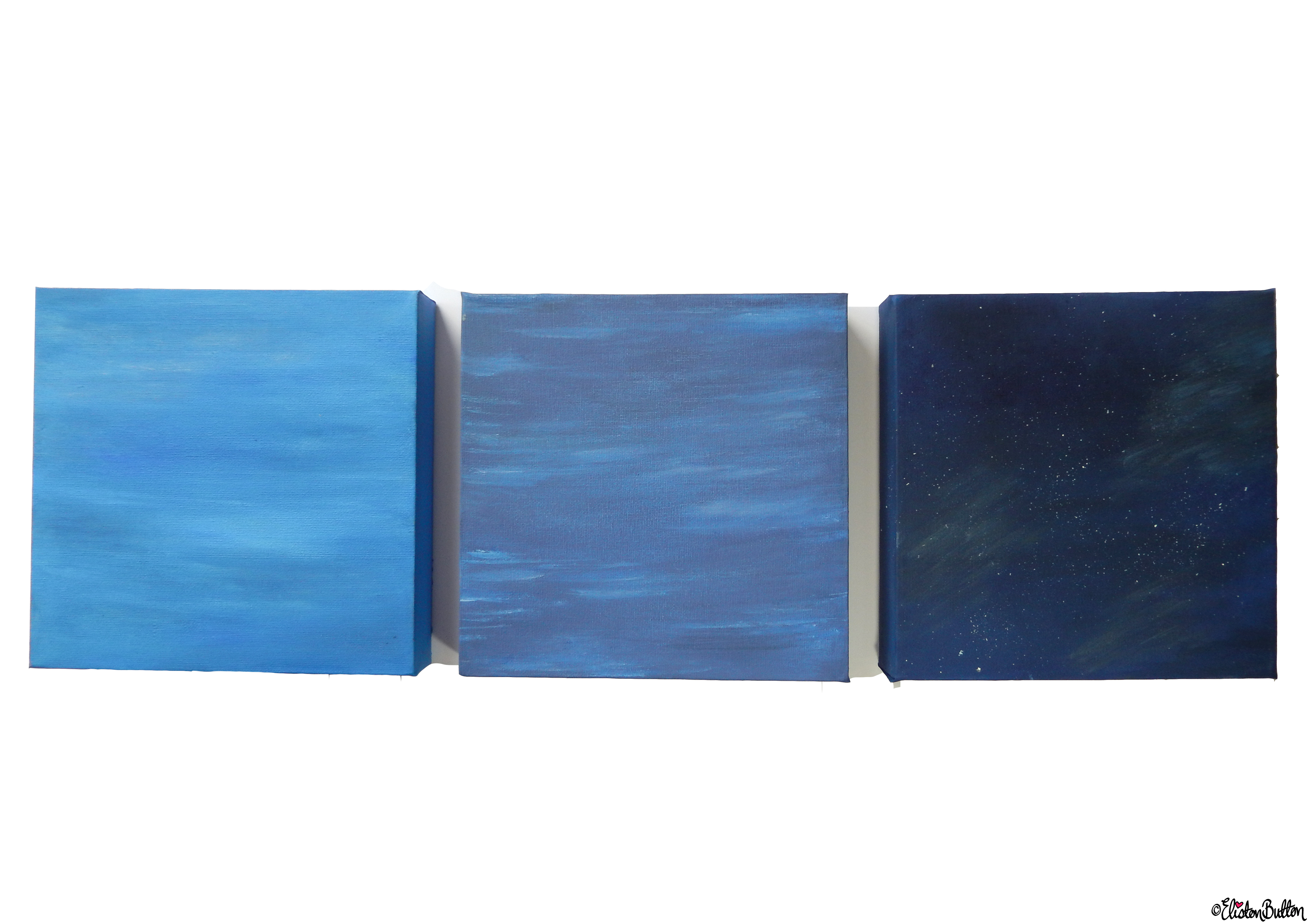 Sky and Water Painted Canvases (2) - Create 28 - No. 16, 17 & 18 - Sea and Sky Painted Canvases at www.elistonbutton.com - Eliston Button - That Crafty Kid – Art, Design, Craft & Adventure.
