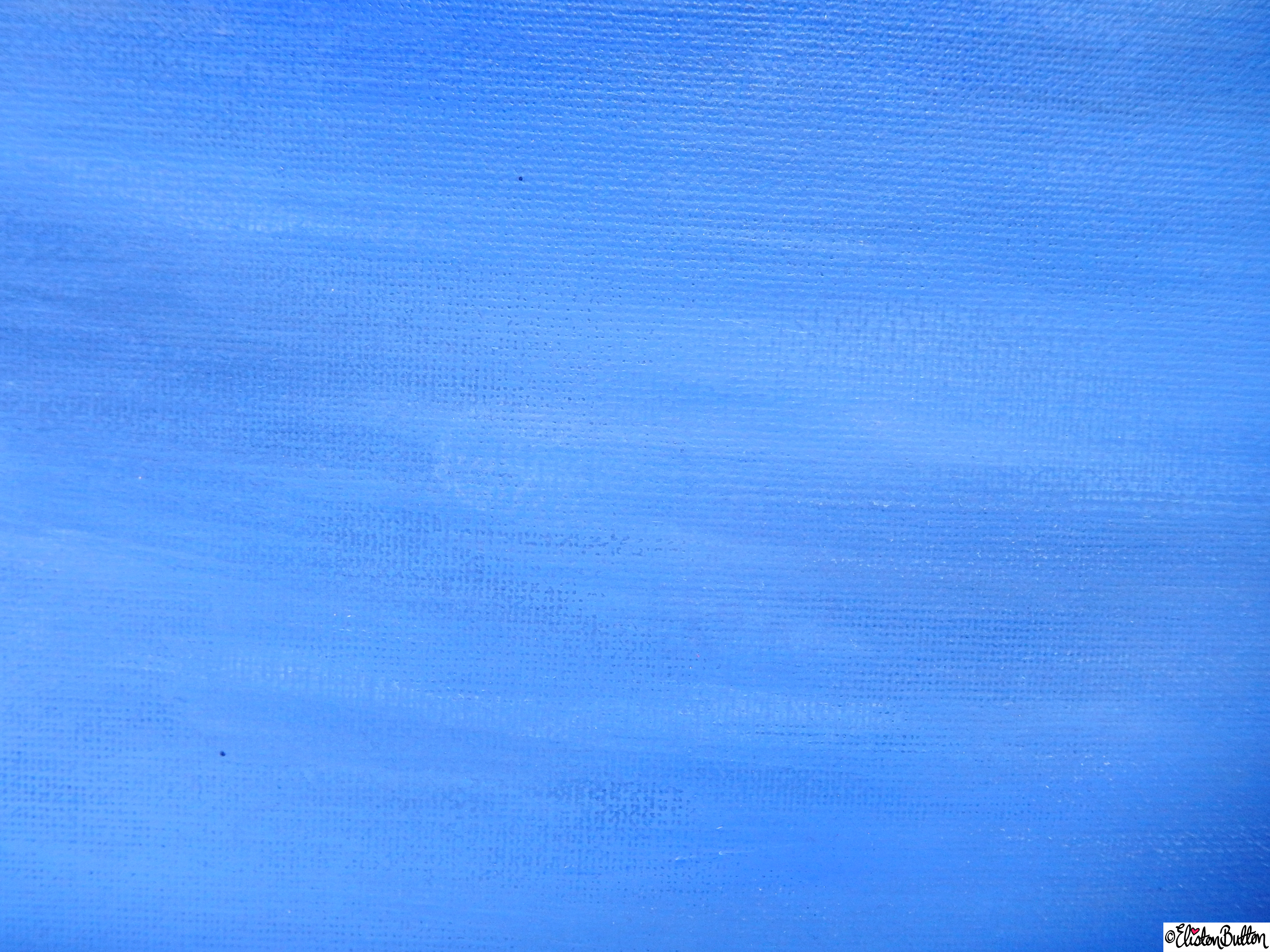 Summer Skies Blue Painted Canvas  - Brush Strokes Close Up - Create 28 - No. 16, 17 & 18 - Sea and Sky Painted Canvases at www.elistonbutton.com - Eliston Button - That Crafty Kid – Art, Design, Craft & Adventure.