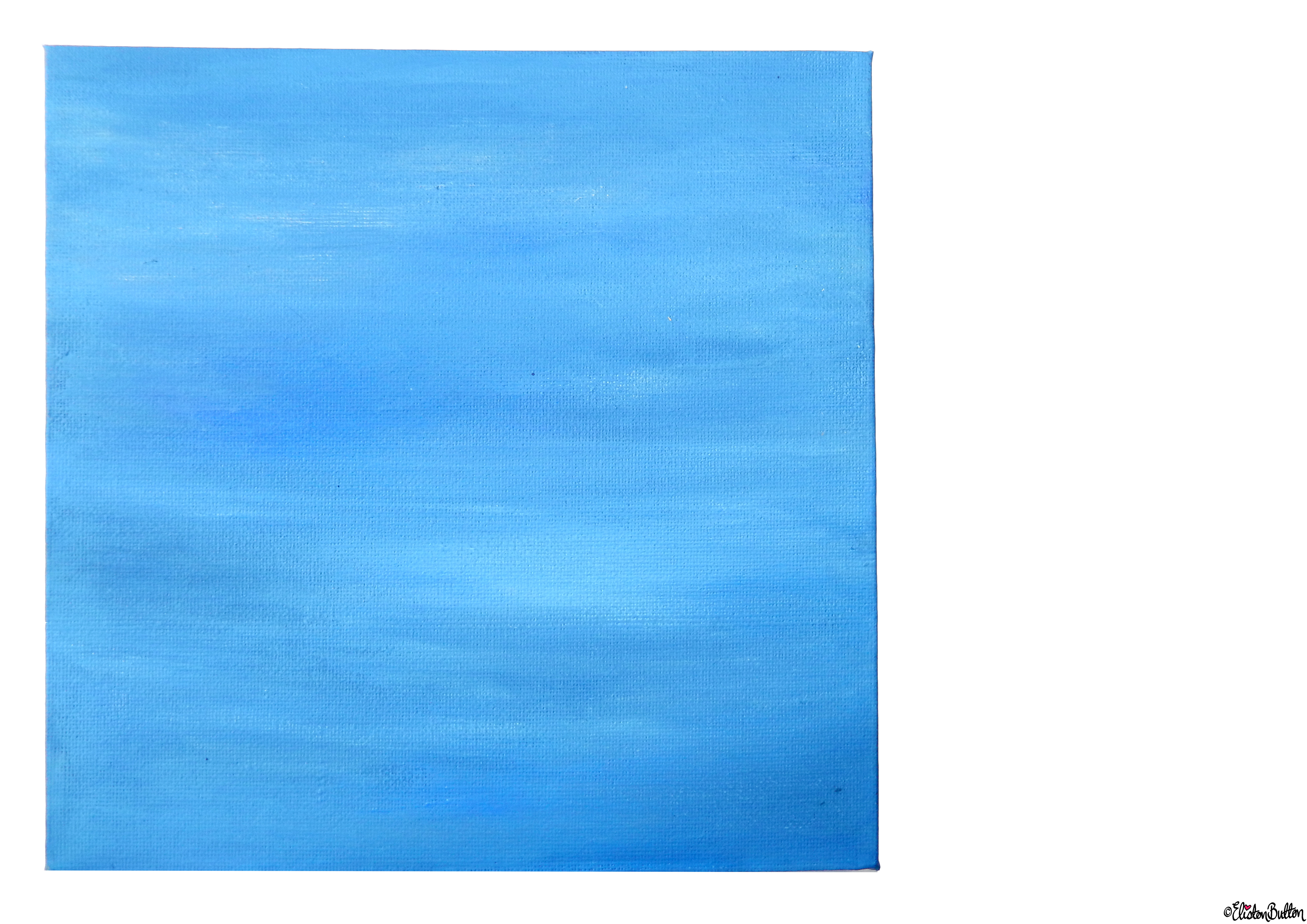 Summer Skies Blue Painted Canvas  - Front View - Create 28 - No. 16, 17 & 18 - Sea and Sky Painted Canvases at www.elistonbutton.com - Eliston Button - That Crafty Kid – Art, Design, Craft & Adventure.