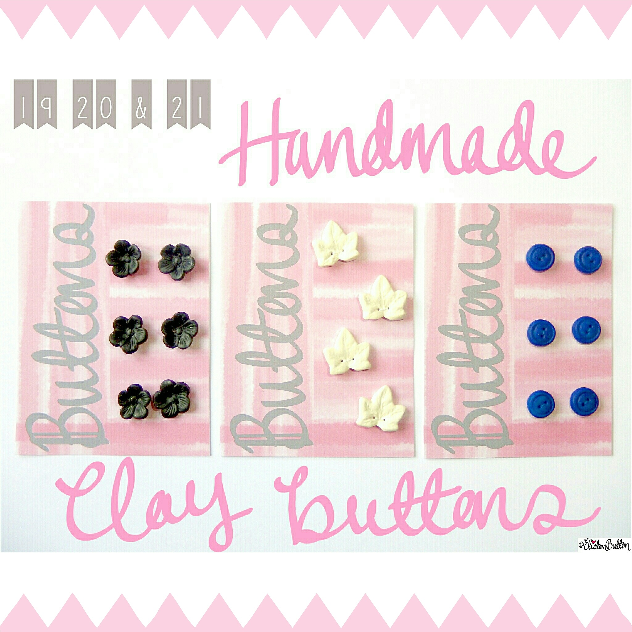 Handmade Clay Buttons - Create 28 - I Did It! (a.k.a. My Therapy Session) at www.elistonbutton.com - Eliston Button - That Crafty Kid – Art, Design, Craft & Adventure.