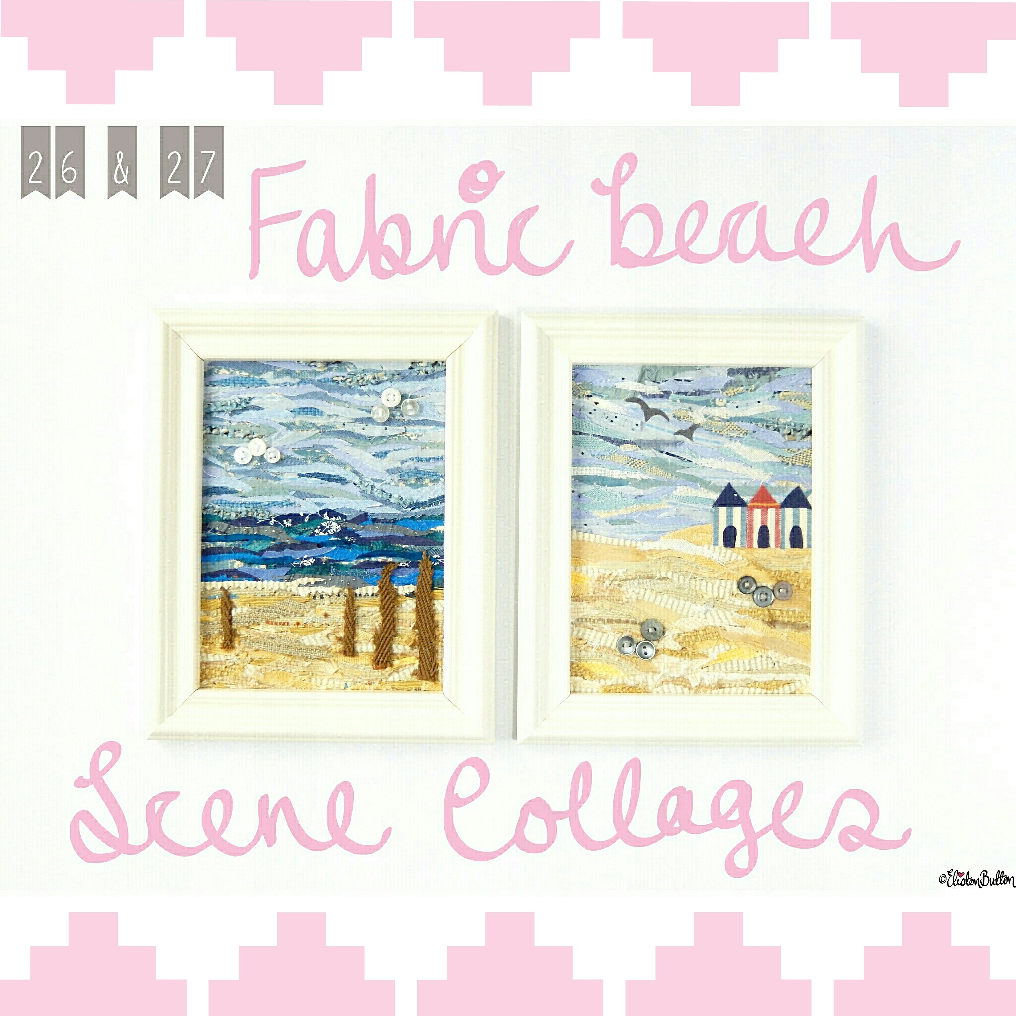 Fabric Beach Scene Collages - Create 28 - I Did It! (a.k.a. My Therapy Session) at www.elistonbutton.com - Eliston Button - That Crafty Kid – Art, Design, Craft & Adventure.