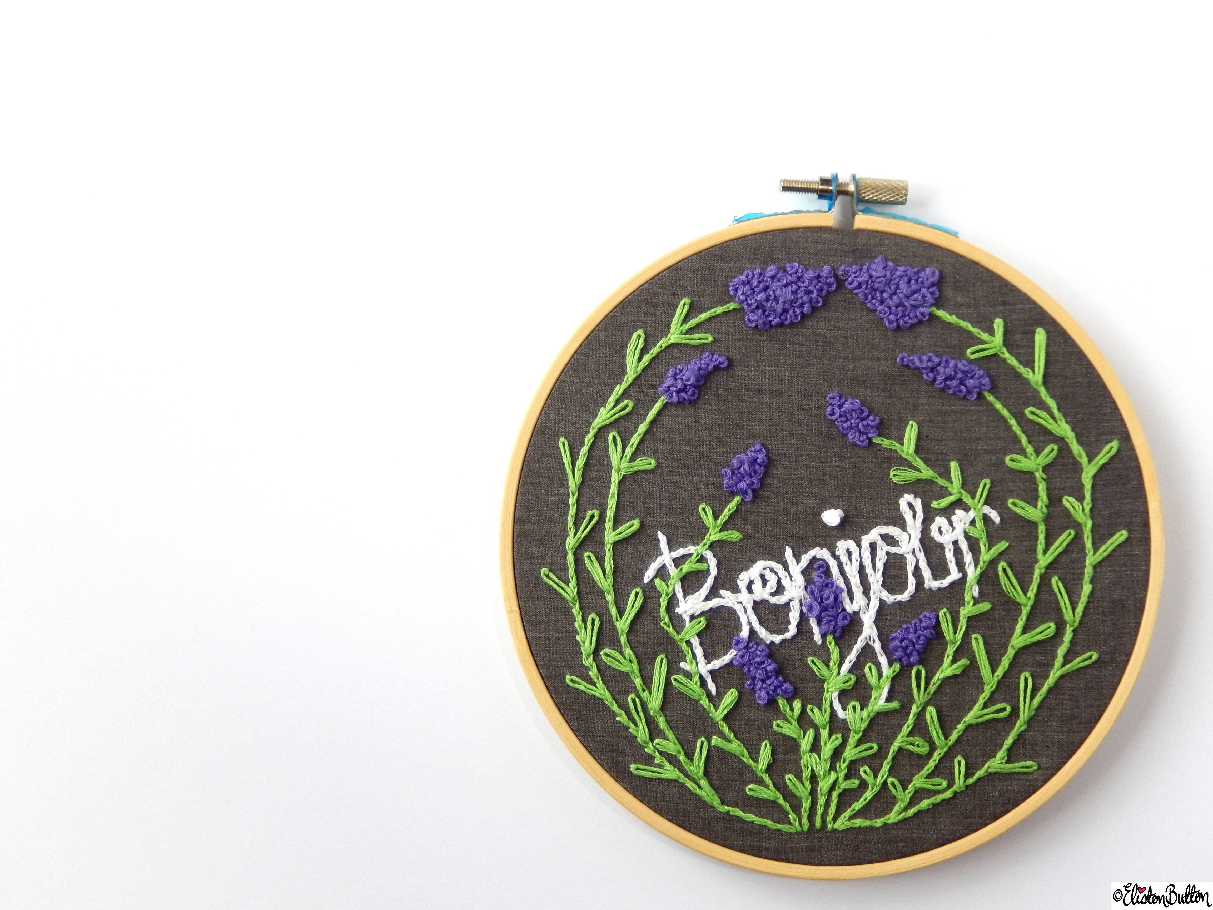 Bonjour French Inspired Embroidery Hoop Wall Art  (4) - Create 28 - No.28 - Embroidery Hoop Wall Art at www.elistonbutton.com - Eliston Button - That Crafty Kid – Art, Design, Craft & Adventure.