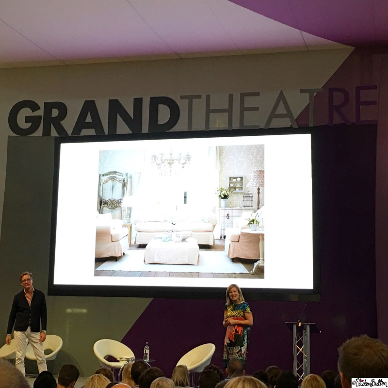 Sophie Robinson and Dan Hopwood on the Grand Theatre Stage at Grand Designs Live - Around Here...October 2015 at www.elistonbutton.com - Eliston Button - That Crafty Kid – Art, Design, Craft & Adventure.