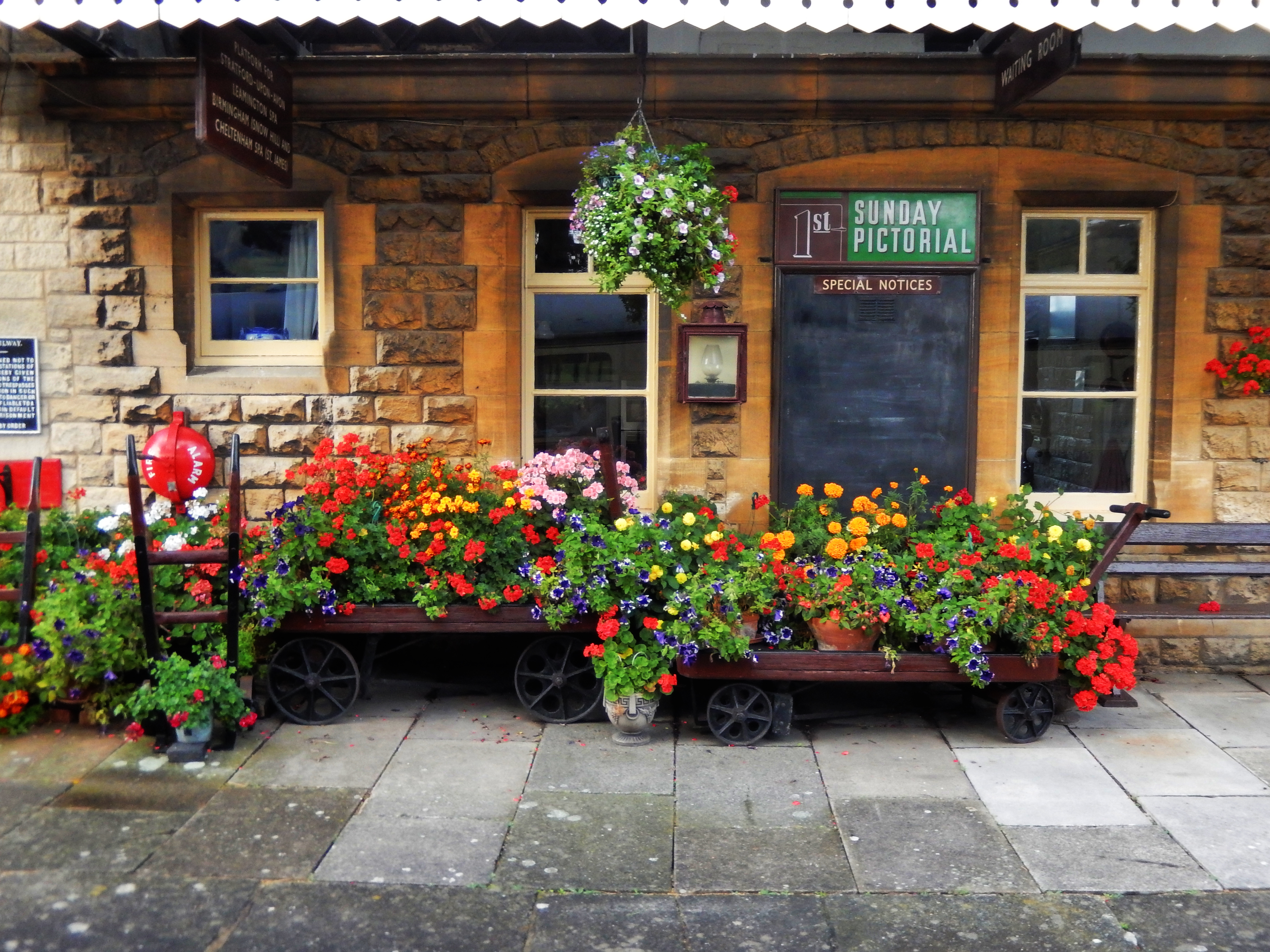 Gloucestershire Warwickshire Steam Railway - Gotherington Station Flowers - This Steam Train Stops at Hogwarts...Right!?