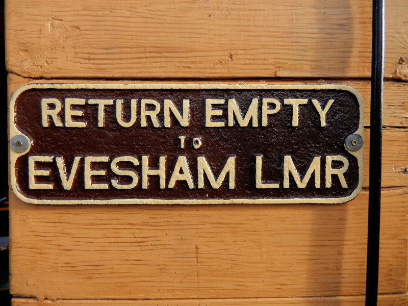 Gloucestershire Warwickshire Steam Railway - Old Fashioned Evesham LMR Wagon Plate - This Steam Train Stops at Hogwarts...Right!?