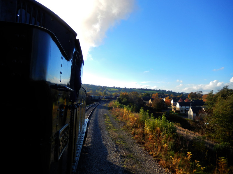 Gloucestershire Warwickshire Steam Railway - Scenic View from the Front - This Steam Train Stops at Hogwarts...Right!?