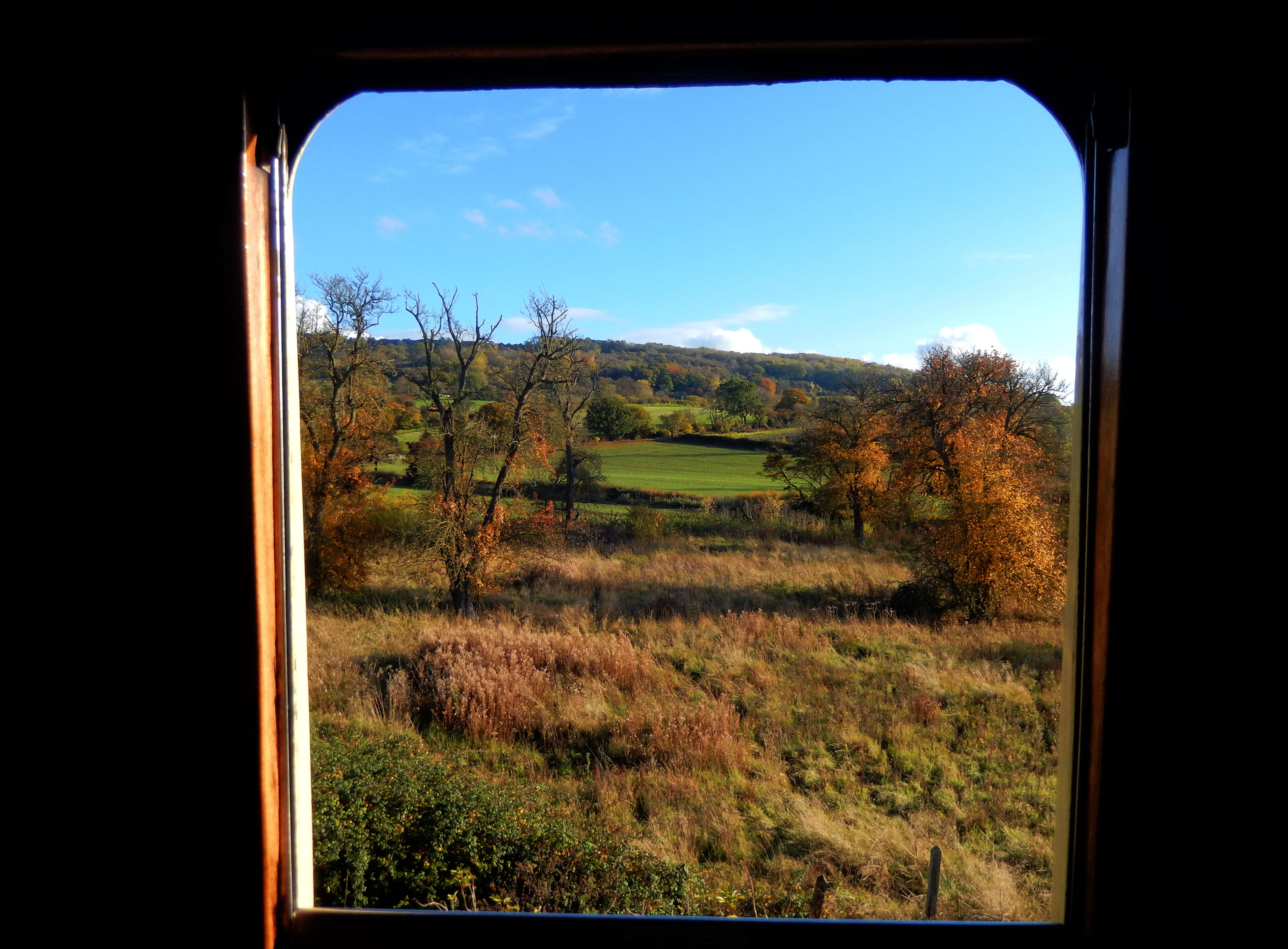 Gloucestershire Warwickshire Steam Railway - Through the Window - This Steam Train Stops at Hogwarts...Right!?
