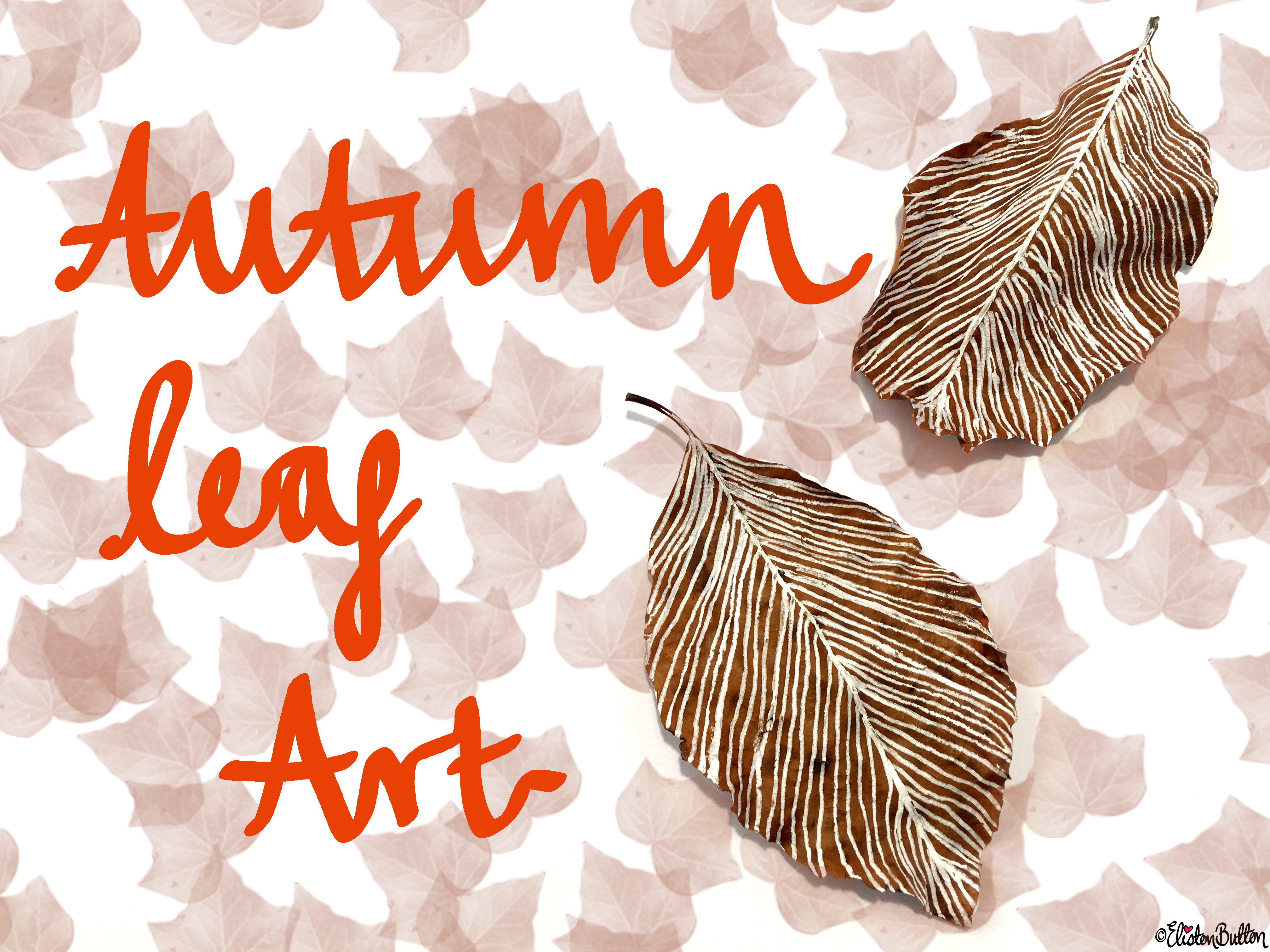 Workspace Wednesday - Autumn Leaf Art - For the Love of…Autumn at www.elistonbutton.com - Eliston Button - That Crafty Kid – Art, Design, Craft & Adventure.