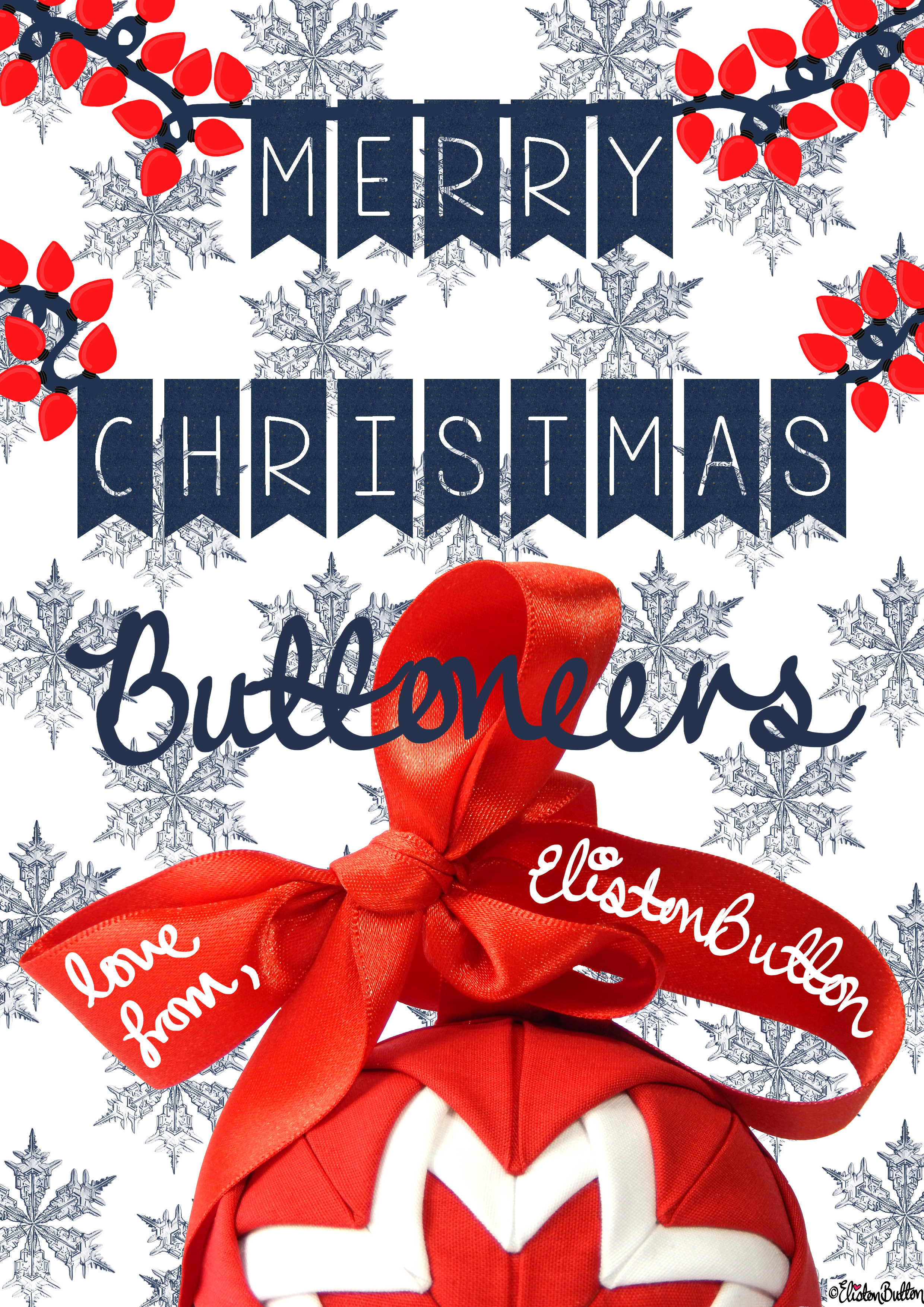 Merry Christmas Buttoneers - Love From Eliston Button - What a Year! (Merry Christmas & Happy Holidays!)