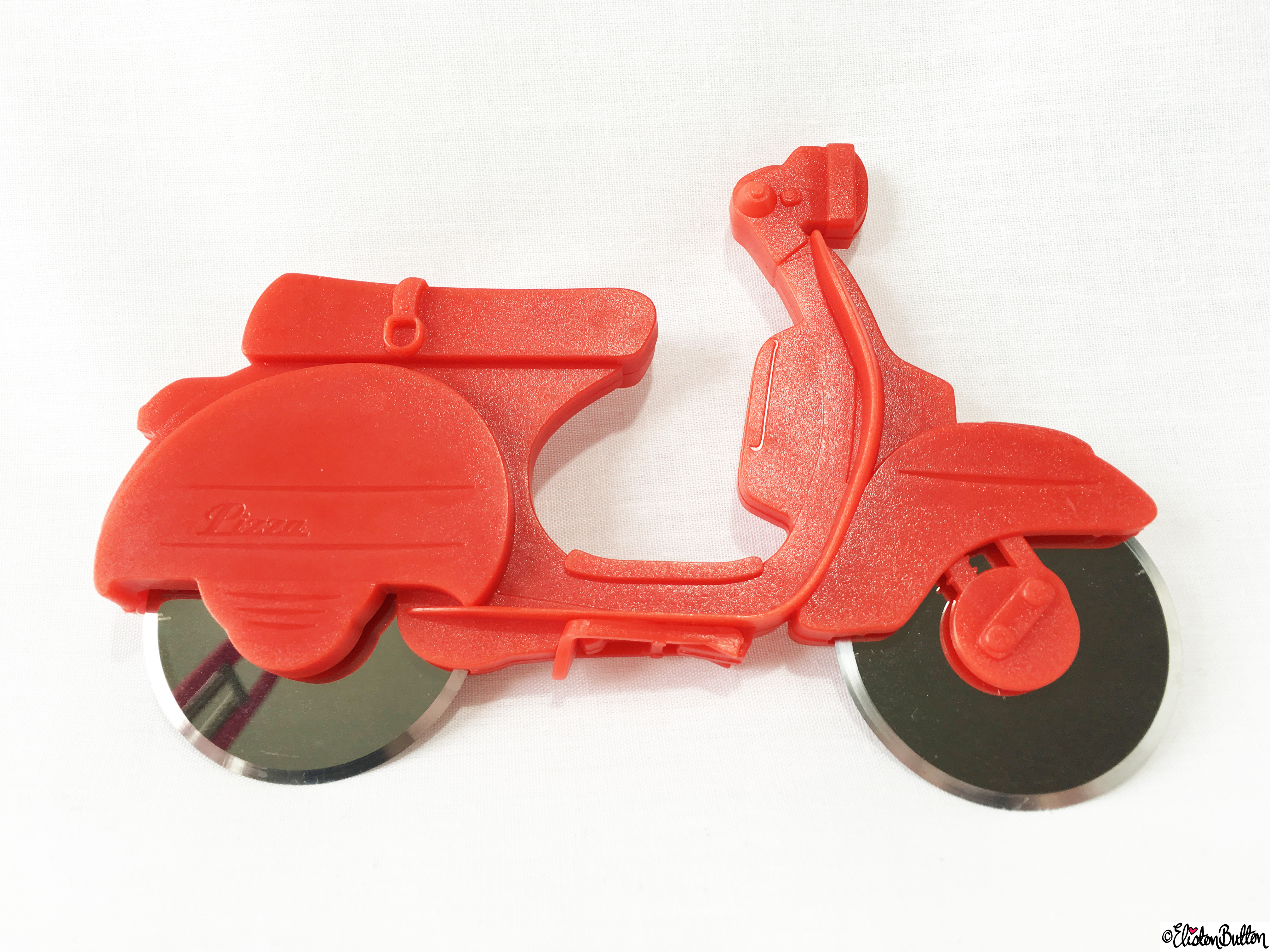 Red Vespa Pizza Cutter - Tiger and TKMaxx Excitement! at www.elistonbutton.com - Eliston Button - That Crafty Kid – Art, Design, Craft & Adventure.