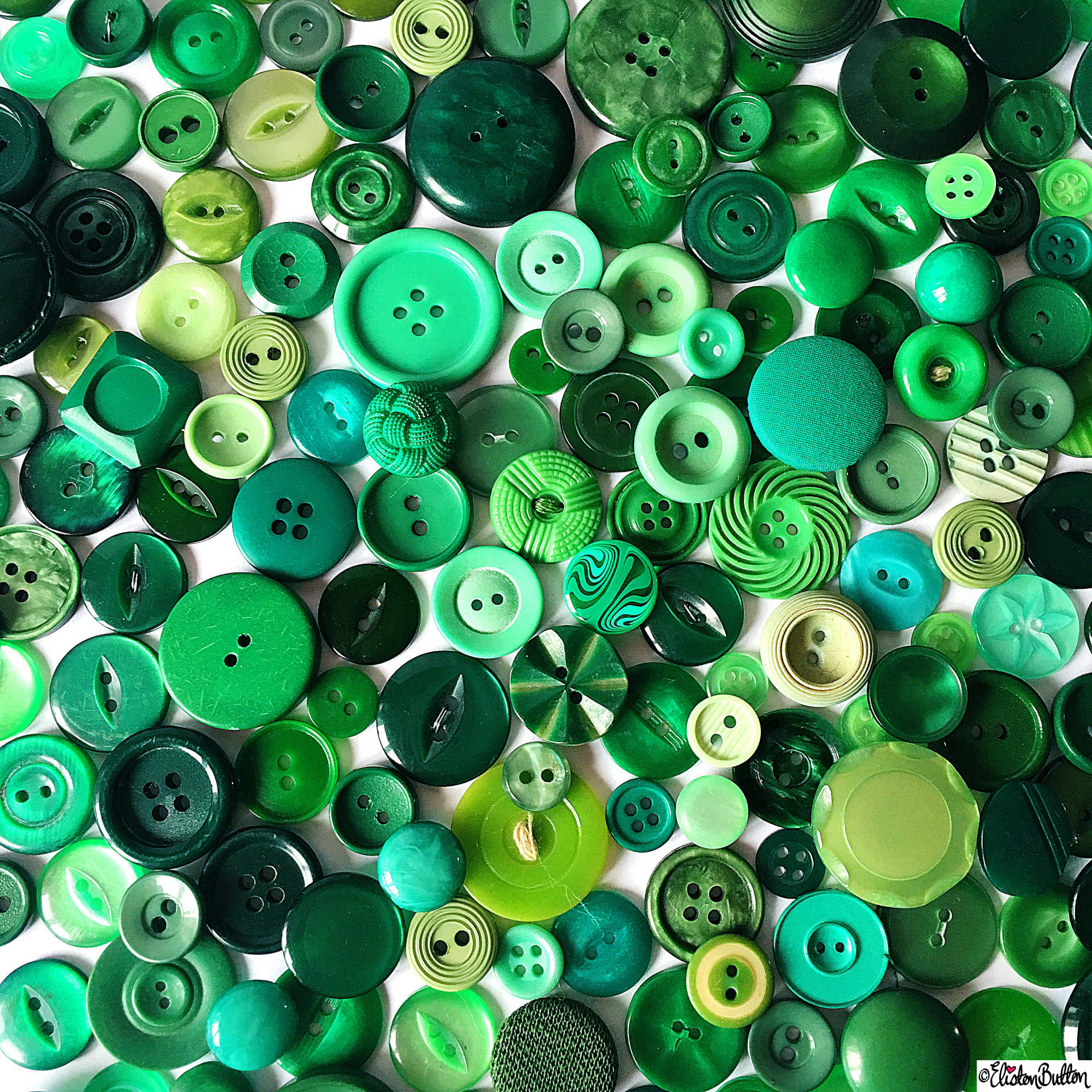 Day 01 - Green - Green Vintage Buttons - Photo-a-Day – March 2016 at www.elistonbutton.com - Eliston Button - That Crafty Kid – Art, Design, Craft & Adventure.
