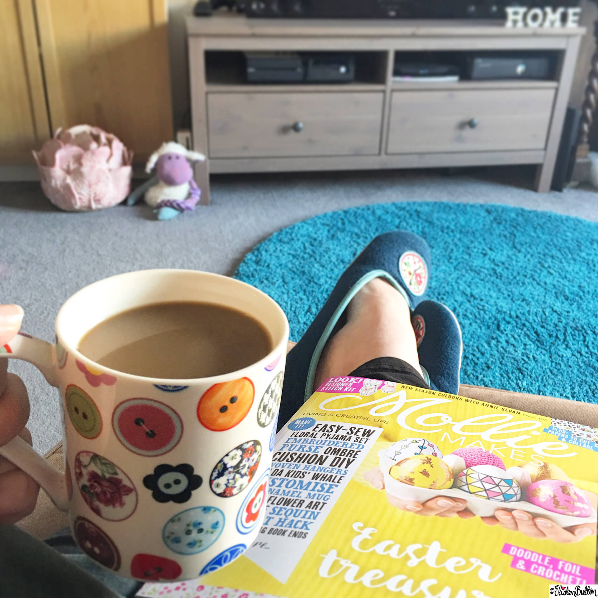 Day 02 - Good - Cup of Coffee and Mollie Makes Magazine - Photo-a-Day – March 2016 at www.elistonbutton.com - Eliston Button - That Crafty Kid – Art, Design, Craft & Adventure.