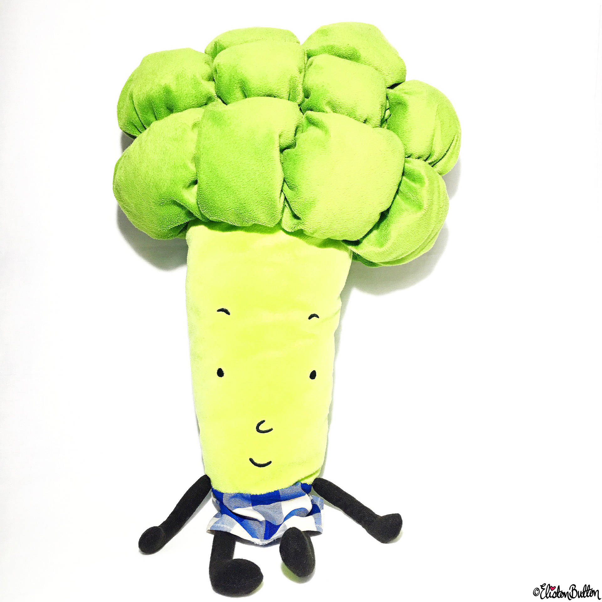 Day 22 - Vegetable - IKEA Broccoli Soft Toy - Photo-a-Day – March 2016 at www.elistonbutton.com - Eliston Button - That Crafty Kid – Art, Design, Craft & Adventure.
