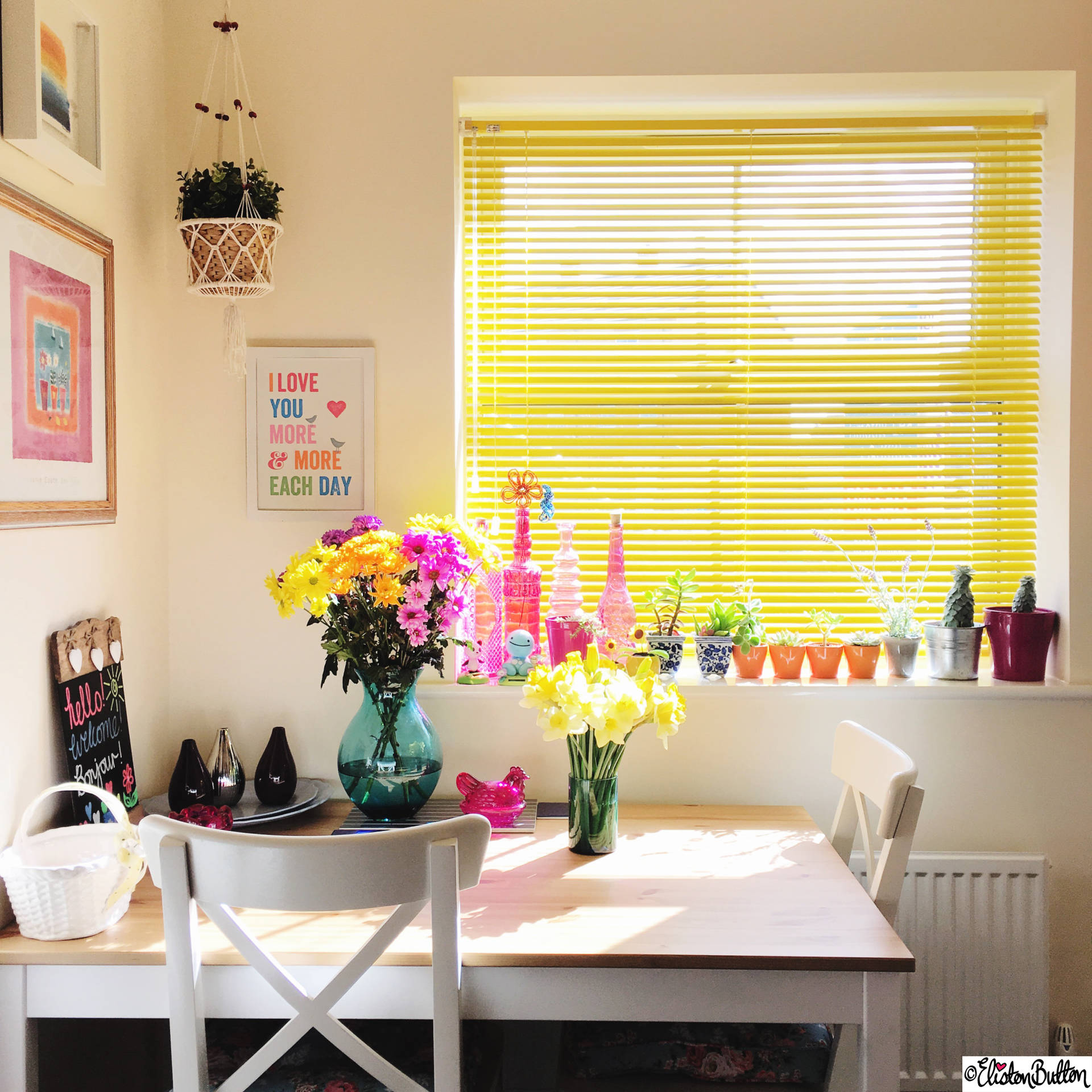 Day 28 - Happiness - Bright Colourful Kitchen Dining Area - Photo-a-Day – March 2016 at www.elistonbutton.com - Eliston Button - That Crafty Kid – Art, Design, Craft & Adventure.