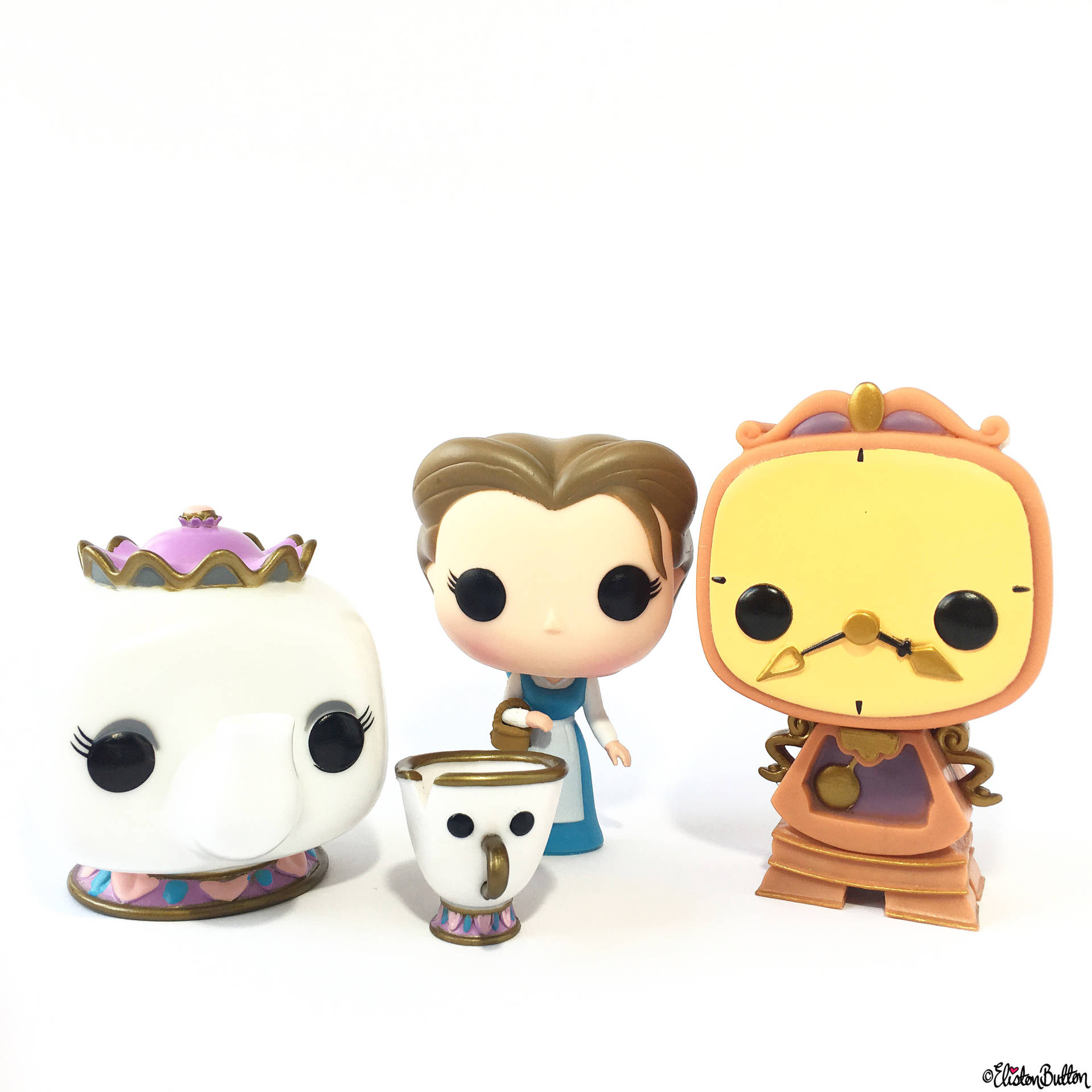 Day 25 - Out of the Box - Beauty and the Beast Funko Vinyl Pop Figures - Photo-a-Day – April 2016 at www.elistonbutton.com - Eliston Button - That Crafty Kid – Art, Design, Craft & Adventure.
