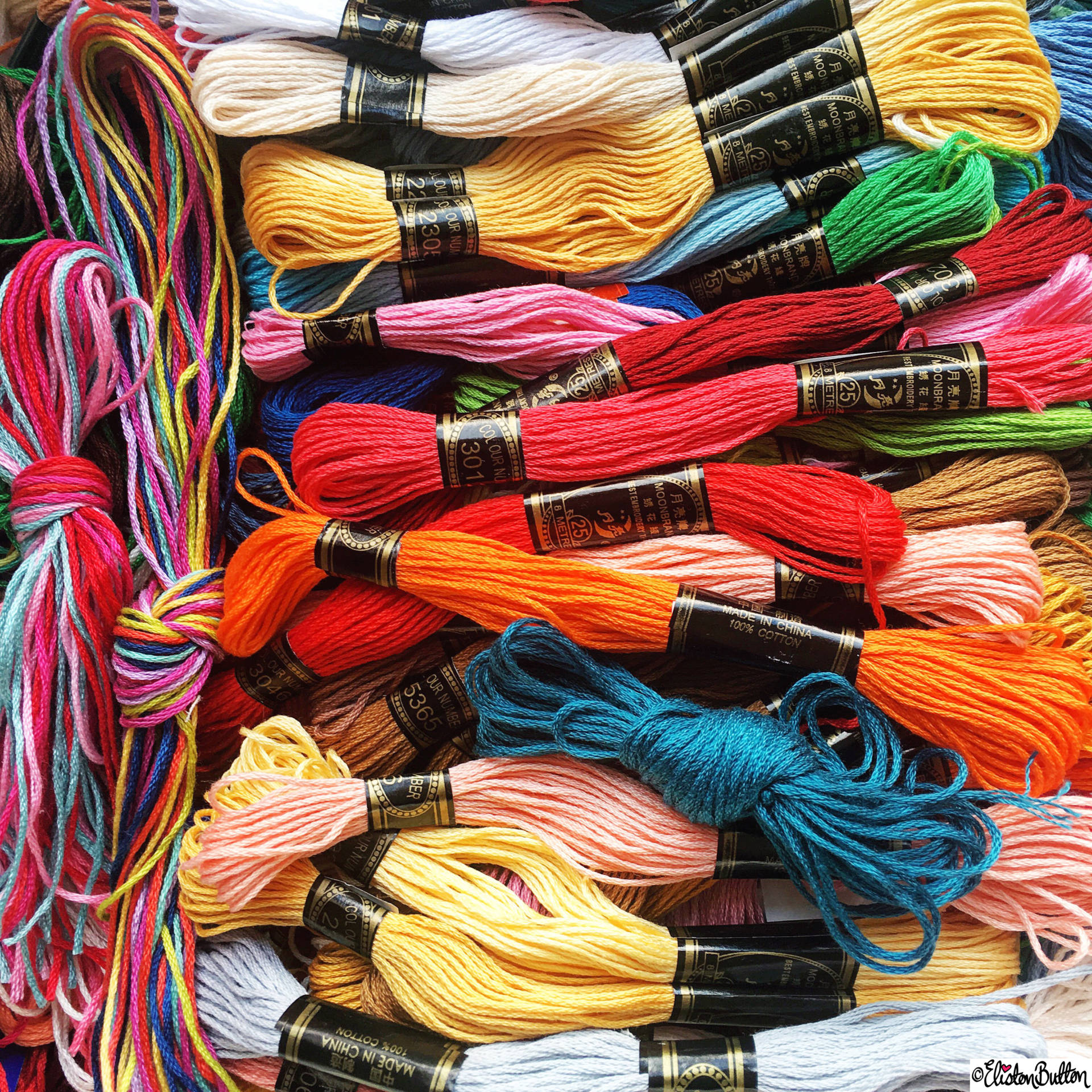 Day 27 - Messy - Coloured Embroidery Threads - Photo-a-Day – April 2016 at www.elistonbutton.com - Eliston Button - That Crafty Kid – Art, Design, Craft & Adventure.