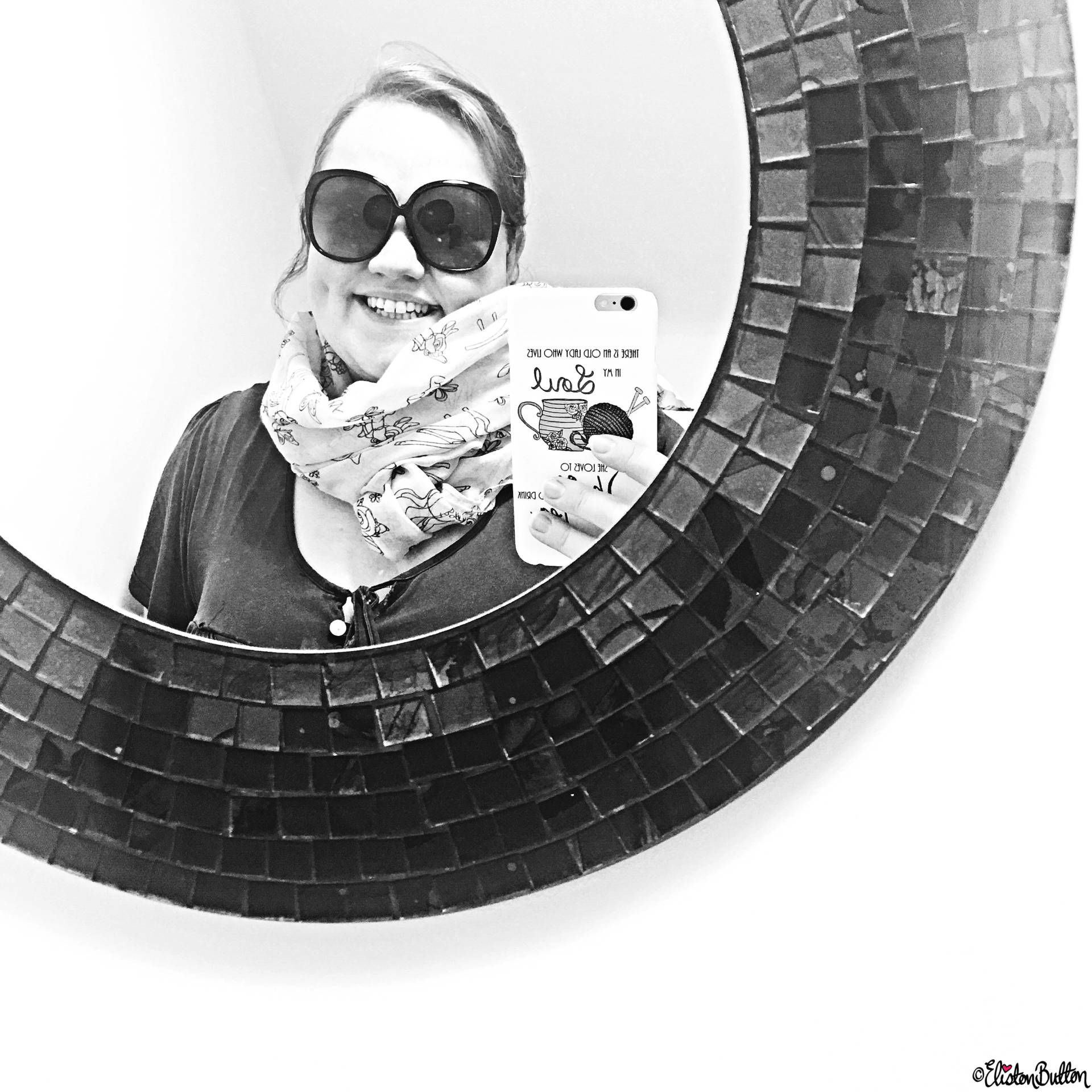 Day 13 - Mirror - Black and White Mosaic Mirror Selfie - Photo-a-Day – May 2016 at www.elistonbutton.com - Eliston Button - That Crafty Kid – Art, Design, Craft & Adventure.