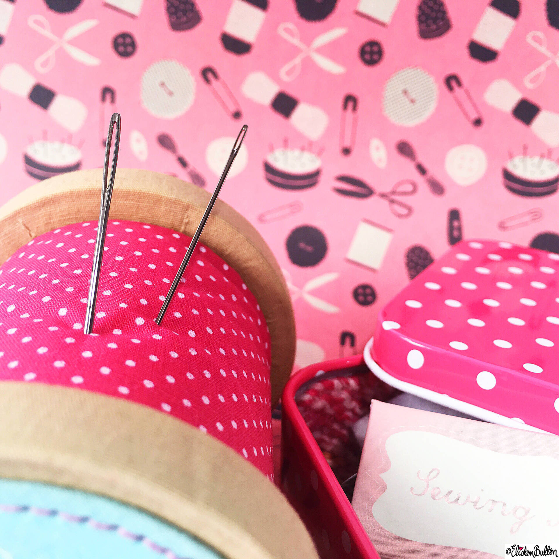 Day 14 - Eye - Eye of a Needle and Pink Sewing Things - Photo-a-Day – May 2016 at www.elistonbutton.com - Eliston Button - That Crafty Kid – Art, Design, Craft & Adventure.