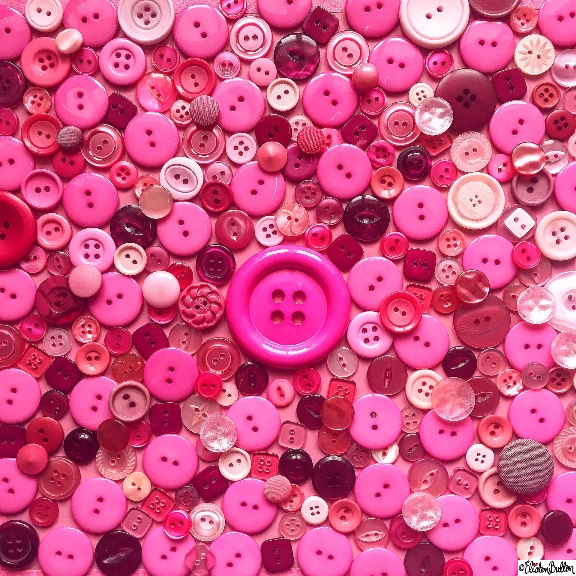 Day 19 - My Fave Colour - Pink Buttons - Photo-a-Day – May 2016 at www.elistonbutton.com - Eliston Button - That Crafty Kid – Art, Design, Craft & Adventure.