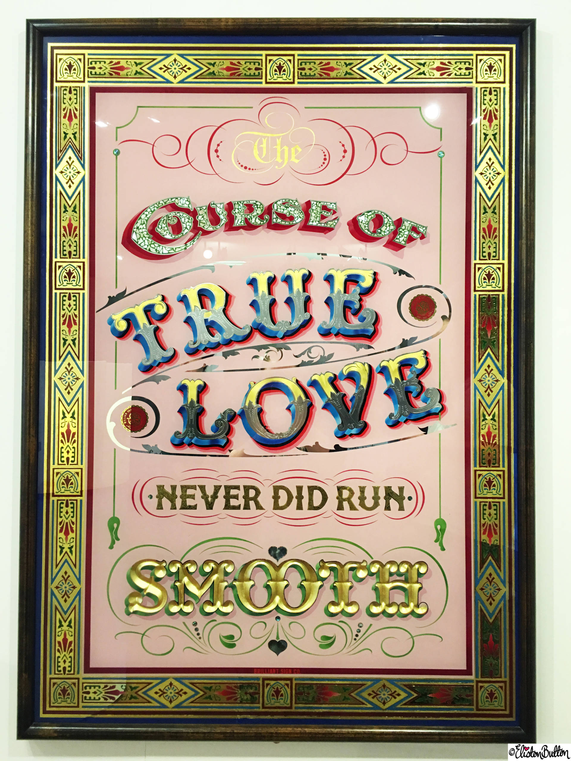 The Curse of True Love Never Did Run Smooth - Midsummer Nights Dream Quote Typography Art at Royal Shakespeare Theatre, Stratford-upon-Avon - Birthday Adventures at www.elistonbutton.com - Eliston Button - That Crafty Kid – Art, Design, Craft & Adventure.