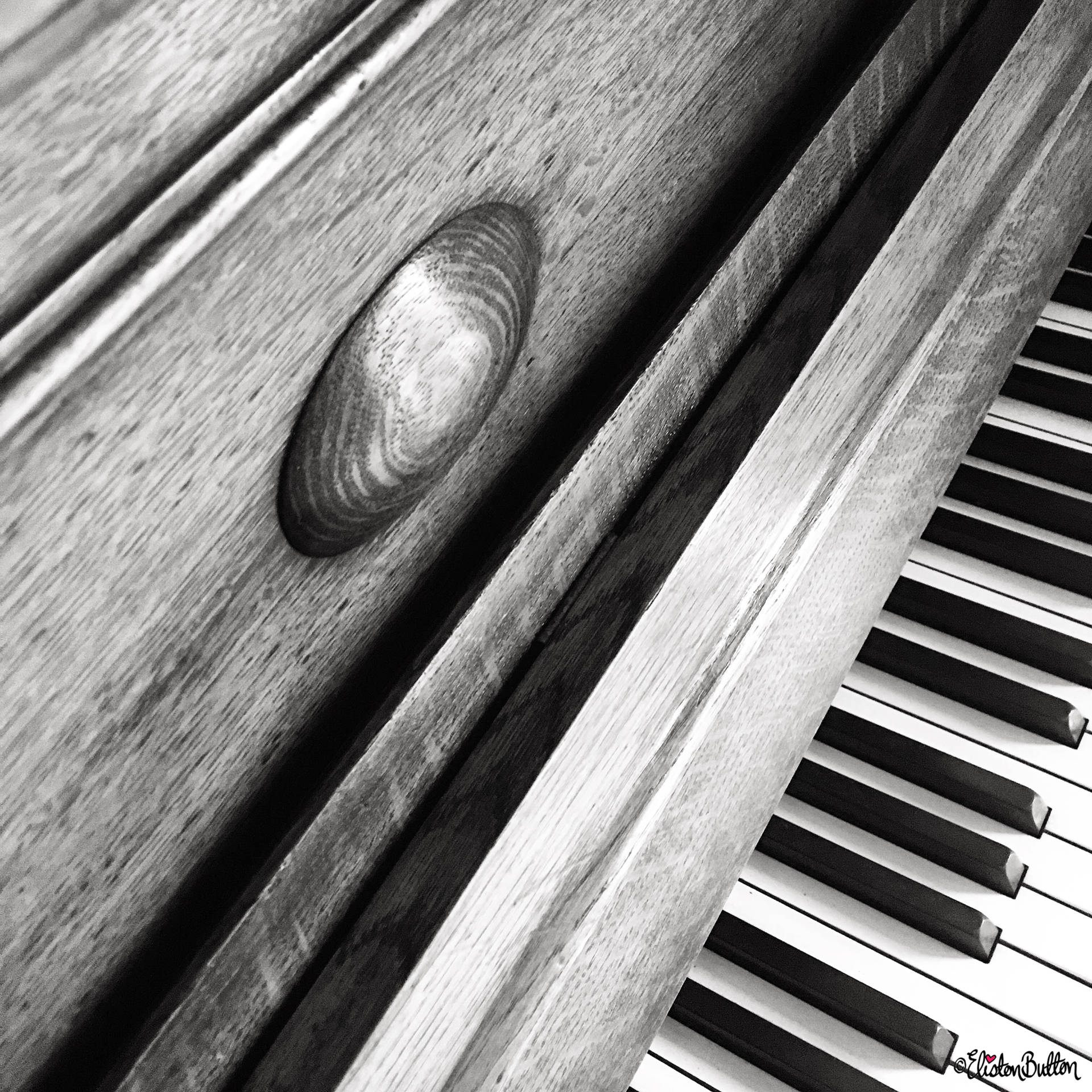Day 01 - Key - Vintage Wooden Upright Piano - Photo-a-Day – June 2016 at www.elistonbutton.com - Eliston Button - That Crafty Kid – Art, Design, Craft & Adventure.
