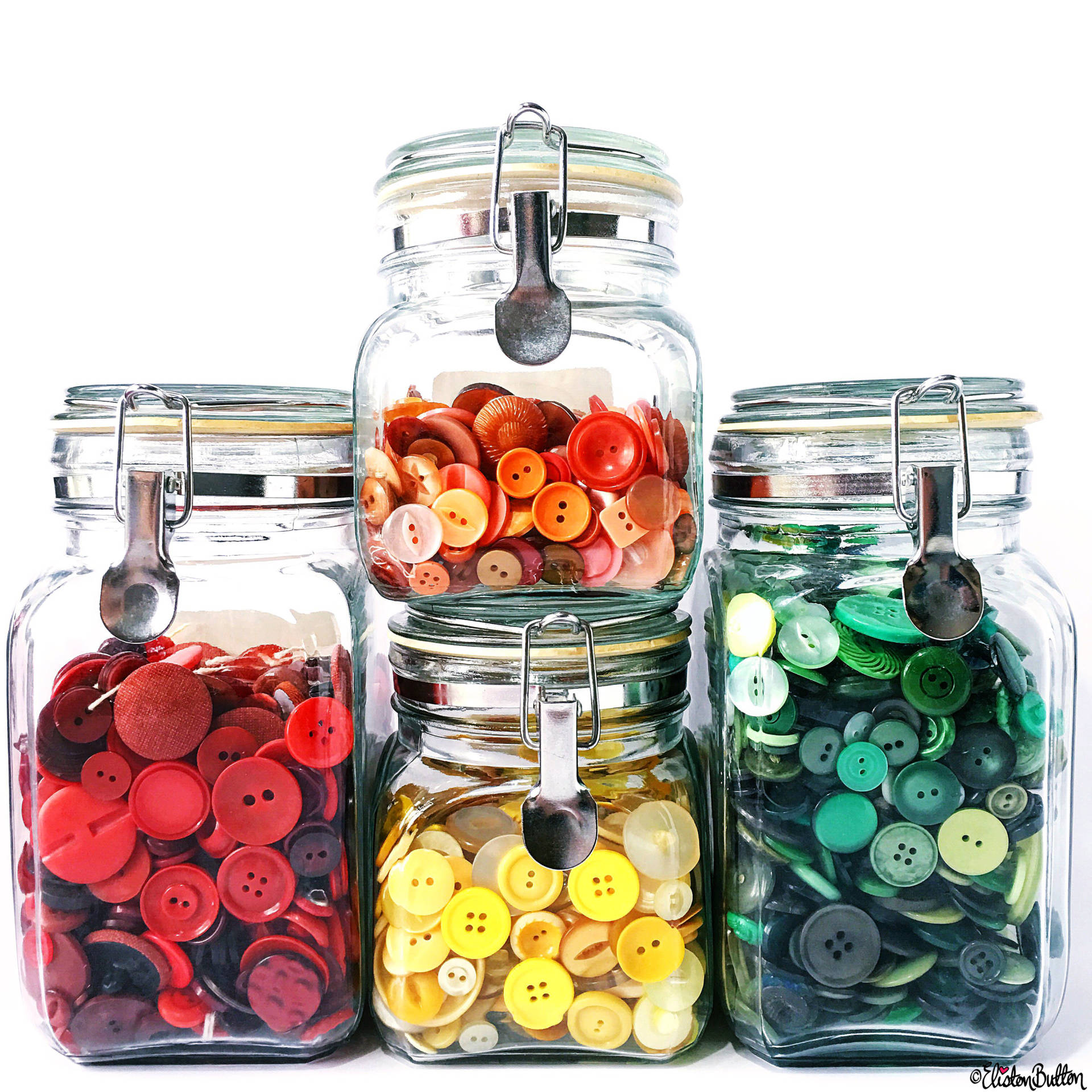 Day 10 - J is For...Jars of Buttons - Photo-a-Day - July 2016 - Eliston Button A-Z of Craft at www.elistonbutton.com - Eliston Button - That Crafty Kid – Art, Design, Craft & Adventure.
