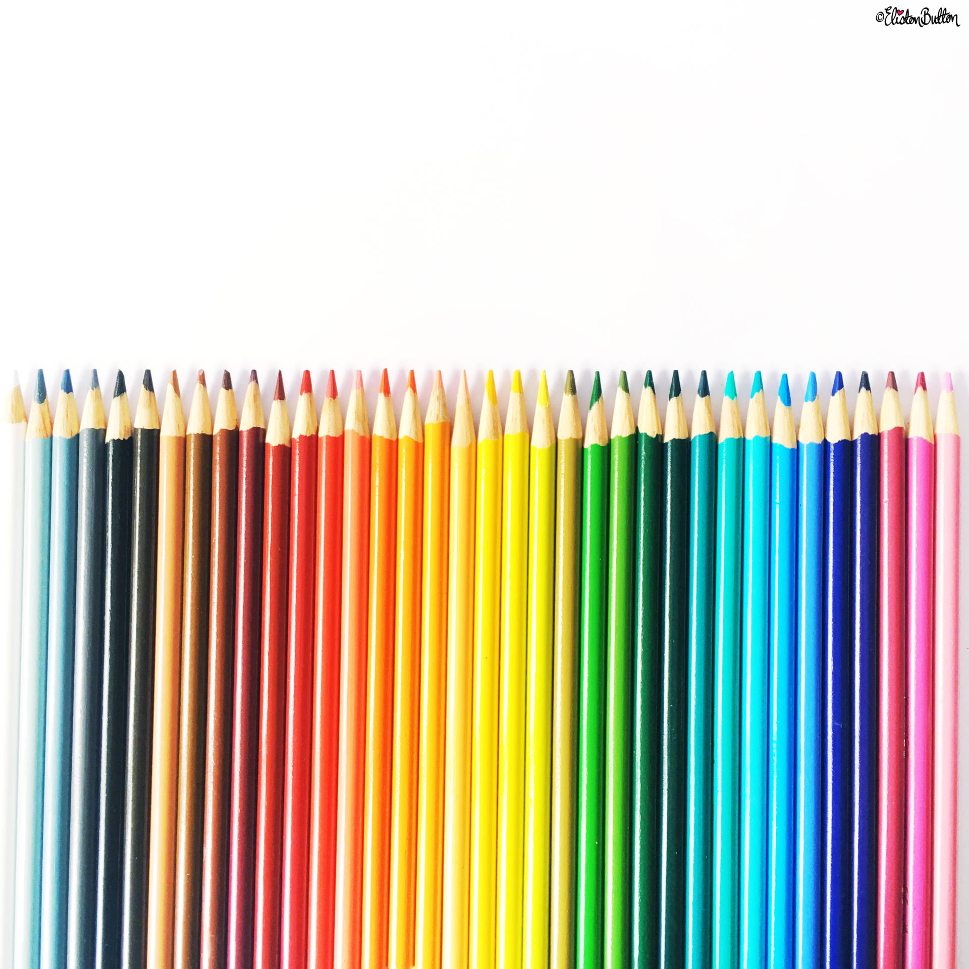 Day 16 - P is For...Pencils - A Rainbow of Colouring Pencils - Photo-a-Day - July 2016 - Eliston Button A-Z of Craft at www.elistonbutton.com - Eliston Button - That Crafty Kid – Art, Design, Craft & Adventure.