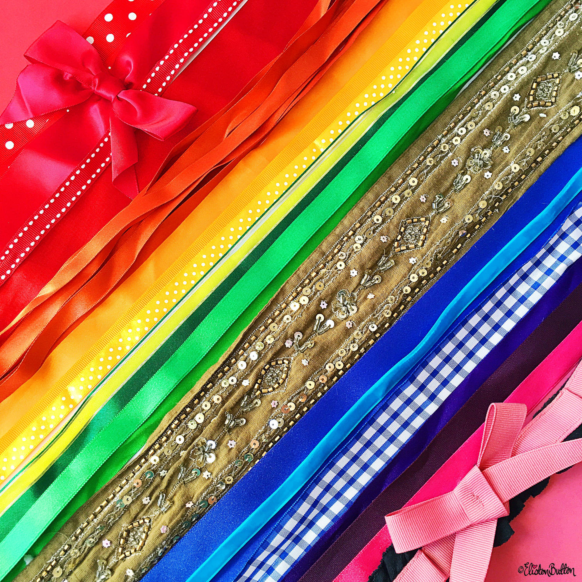 Day 18 - R is For...Ribbons - A Rainbow of Ribbons - Photo-a-Day - July 2016 - Eliston Button A-Z of Craft at www.elistonbutton.com - Eliston Button - That Crafty Kid – Art, Design, Craft & Adventure.