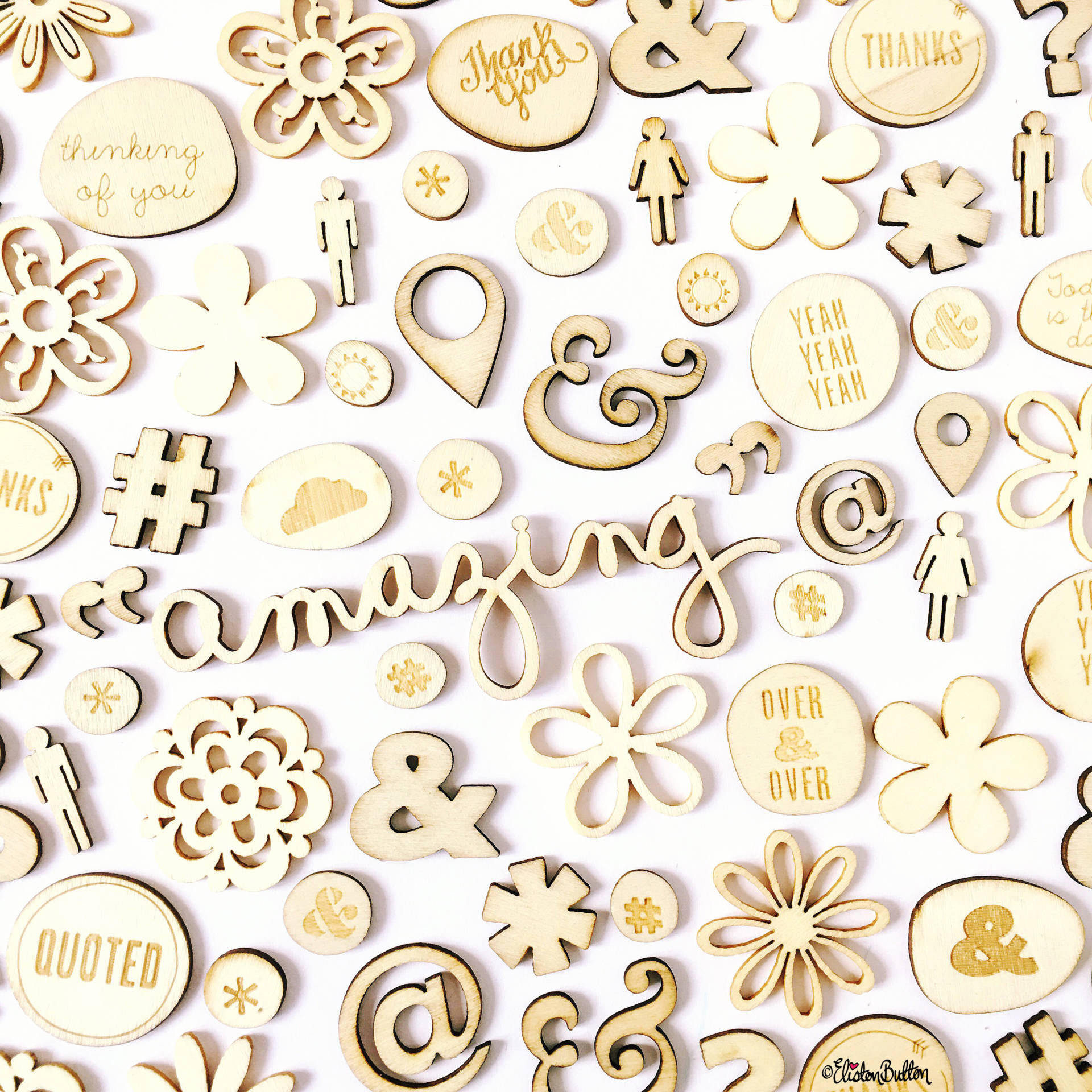 Day 22 - V is For...Veneers - Studio Calico and American Crafts Wooden Scrapbooking Embellishments - Photo-a-Day - July 2016 - Eliston Button A-Z of Craft at www.elistonbutton.com - Eliston Button - That Crafty Kid – Art, Design, Craft & Adventure.