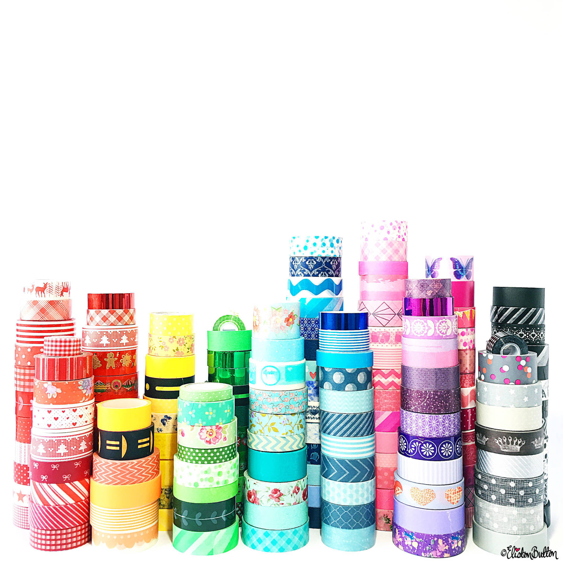Day 23 - W is For...Washi Tape - A Rainbow of Washi Tape - Photo-a-Day - July 2016 - Eliston Button A-Z of Craft at www.elistonbutton.com - Eliston Button - That Crafty Kid – Art, Design, Craft & Adventure.