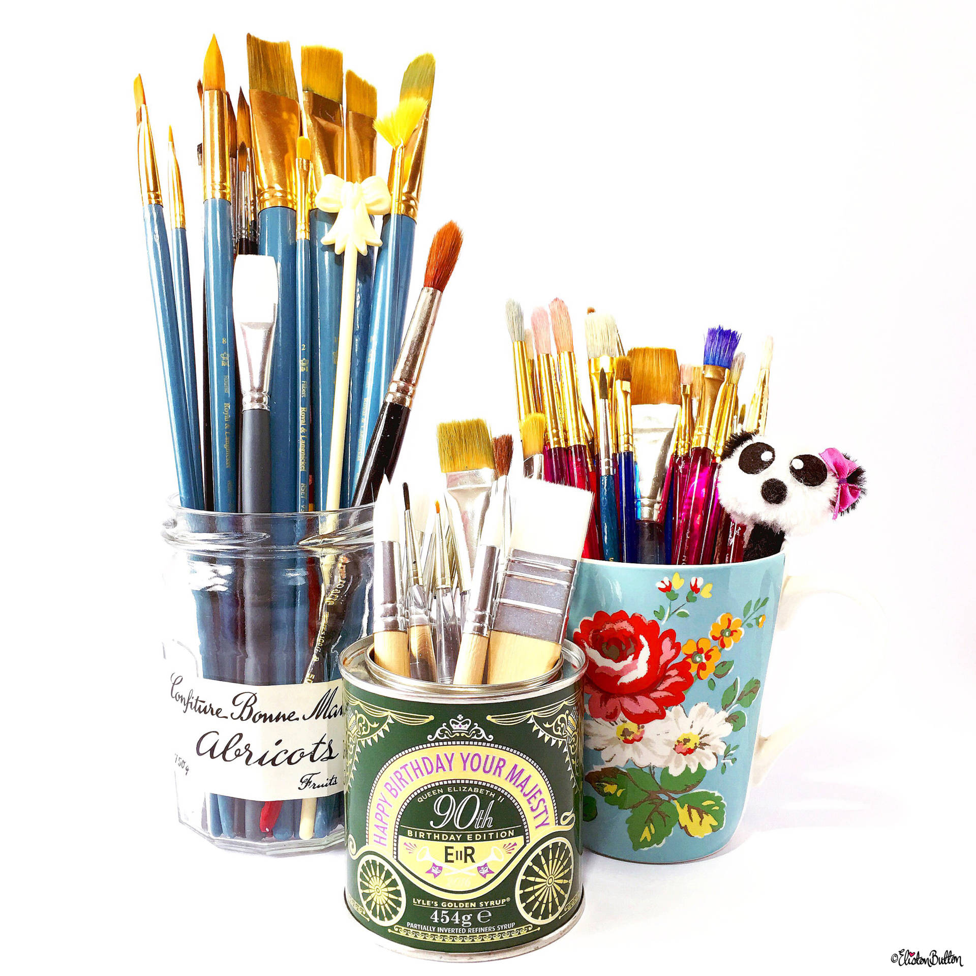 Day 29 - Three - Three Different Paint Brush Pots - Photo-a-Day - July 2016 - Eliston Button A-Z of Craft at www.elistonbutton.com - Eliston Button - That Crafty Kid – Art, Design, Craft & Adventure.