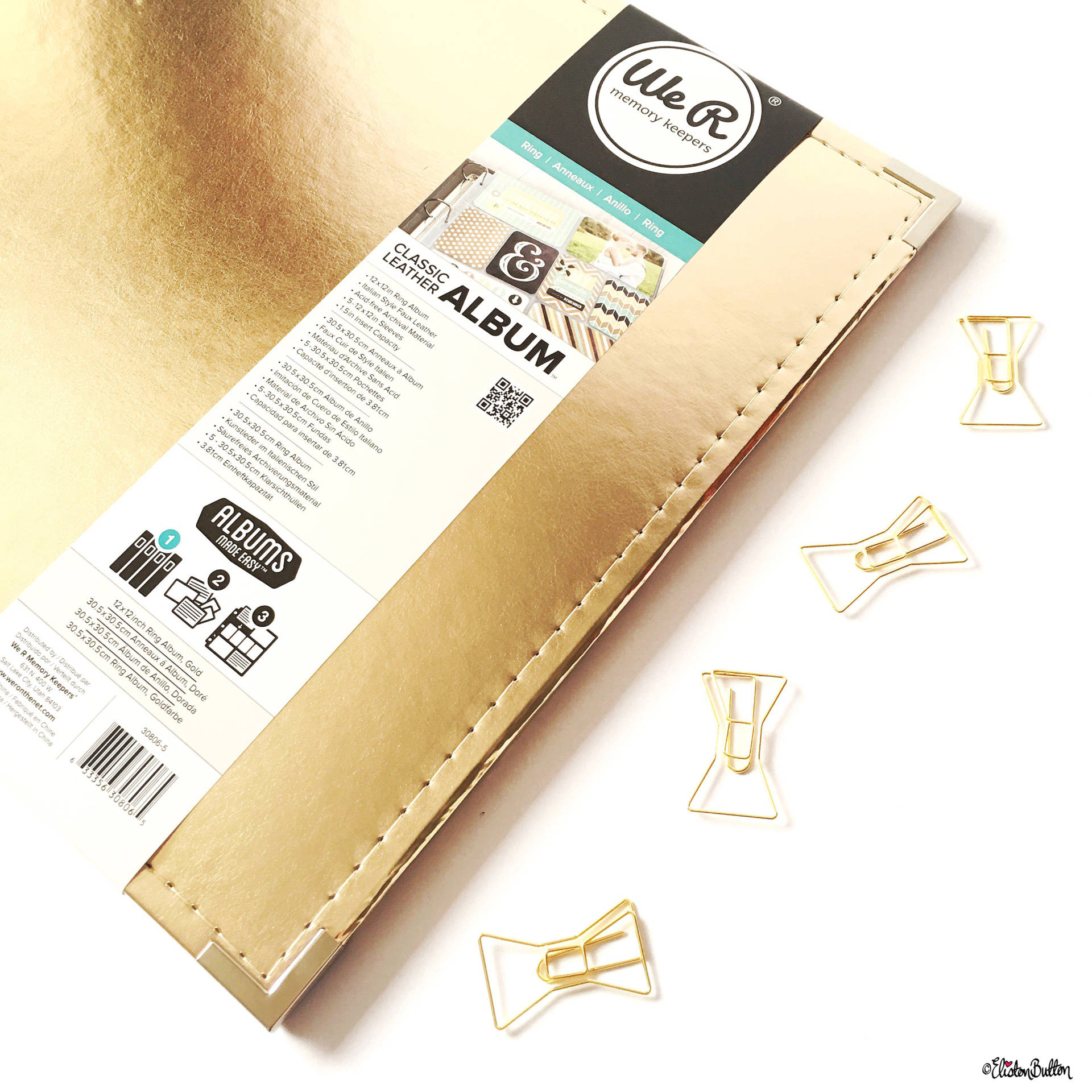 Gold Classic Leather We R Memory Keepers 12x12 Project Life Scrapbook Album - Around Here…August 2016 at www.elistonbutton.com - Eliston Button - That Crafty Kid – Art, Design, Craft & Adventure.