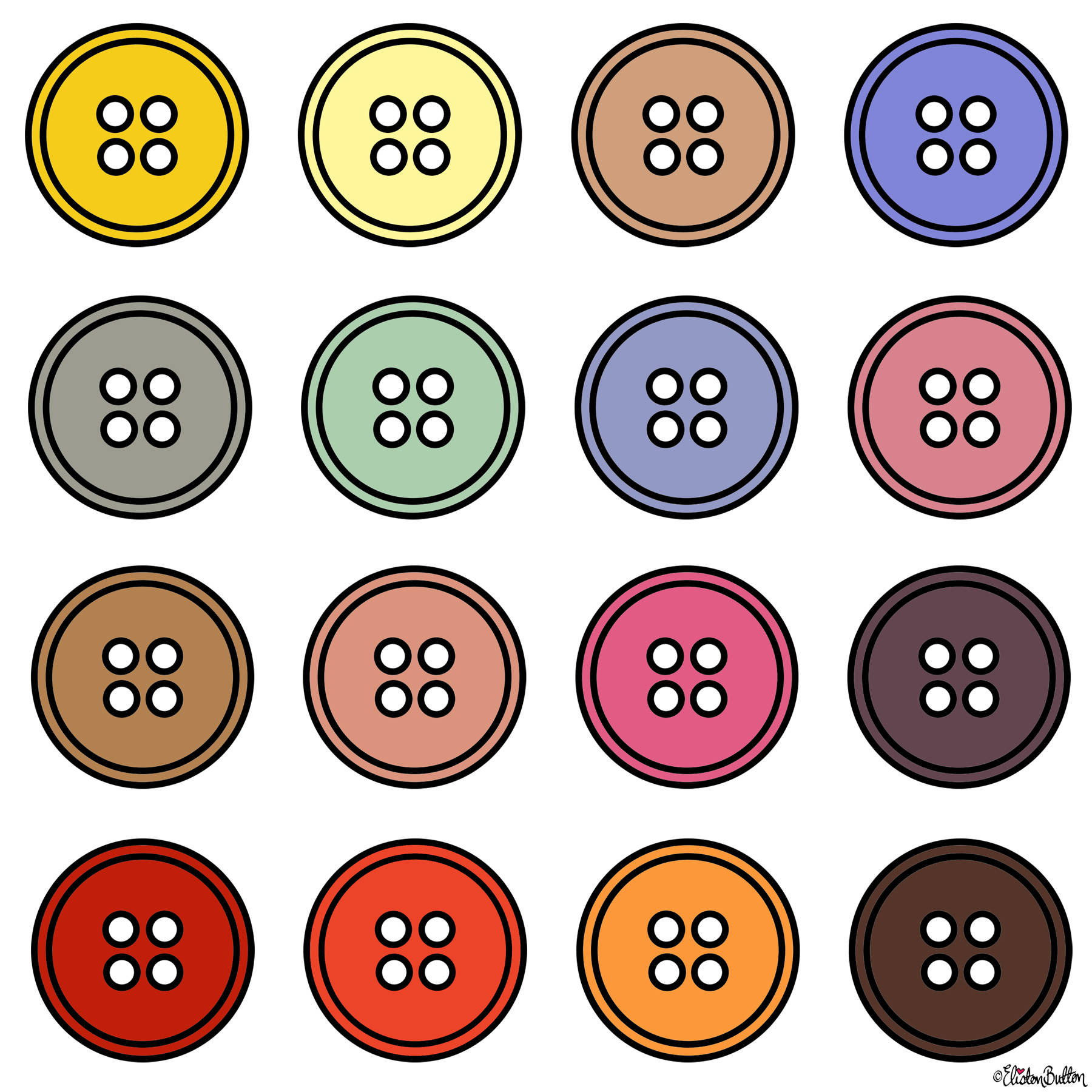 Button Colour Adventure - Part 4 - Goodbye Summer, Hello Autumn Button Colour Palette - Around Here…September 2016 at www.elistonbutton.com - Eliston Button - That Crafty Kid – Art, Design, Craft & Adventure.