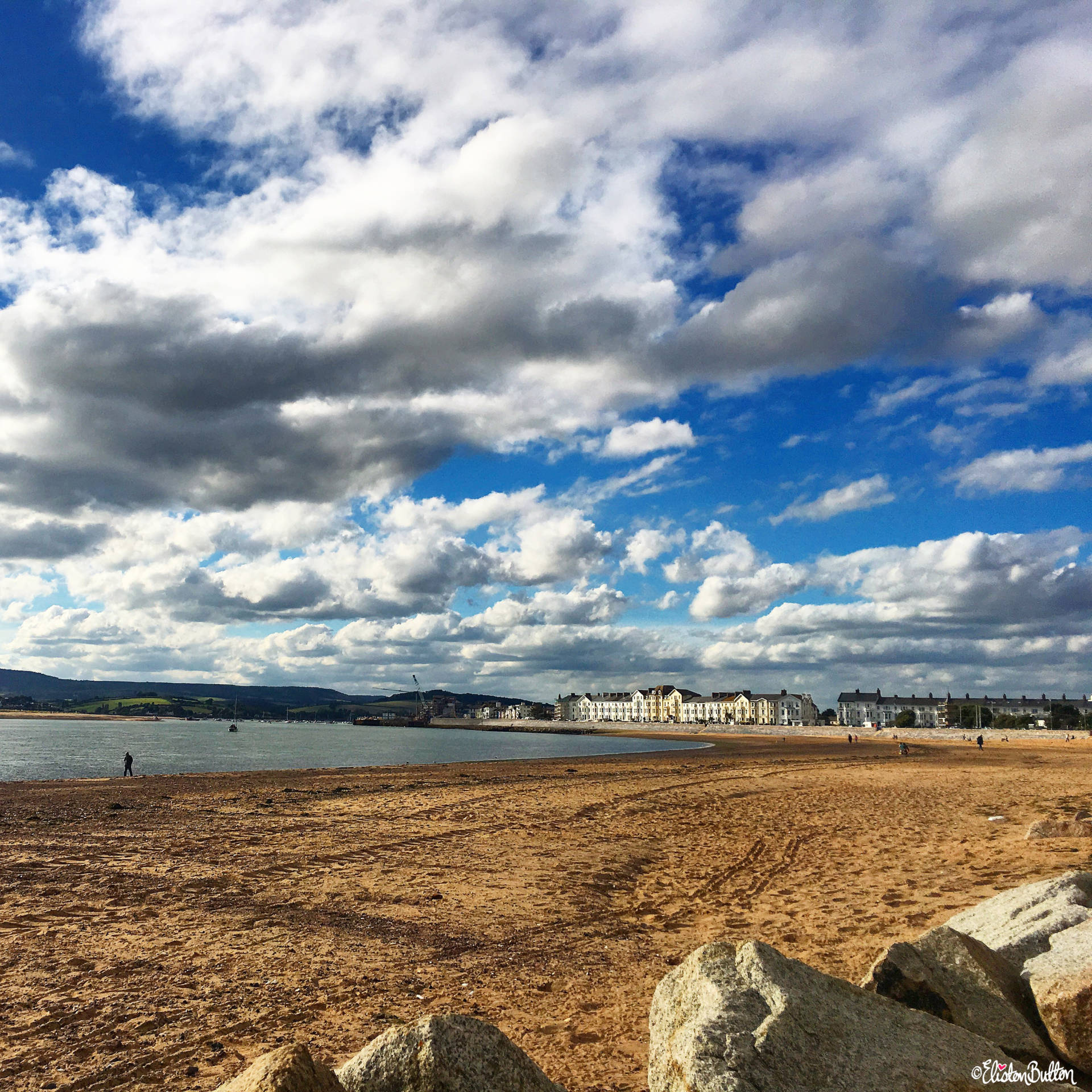 Exmouth Beach and Seafront, Exmouth, UK - Around Here…September 2016 at www.elistonbutton.com - Eliston Button - That Crafty Kid – Art, Design, Craft & Adventure.