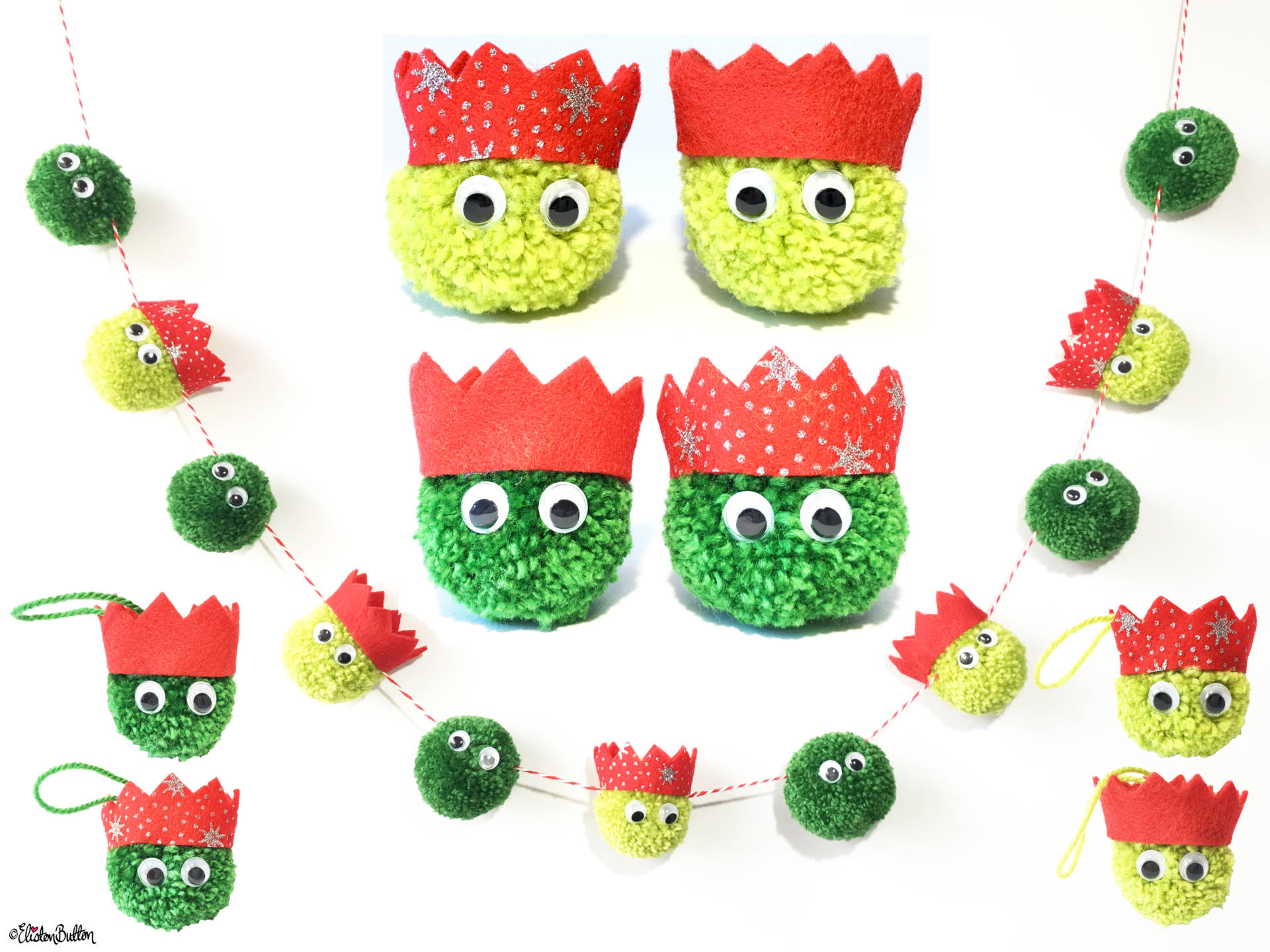 Christmas Sprout Garland and Decorations by Eliston Button - Christmas Gift Guide, Last Postage Dates and a Present for You! at www.elistonbutton.com - Eliston Button - That Crafty Kid – Art, Design, Craft & Adventure.