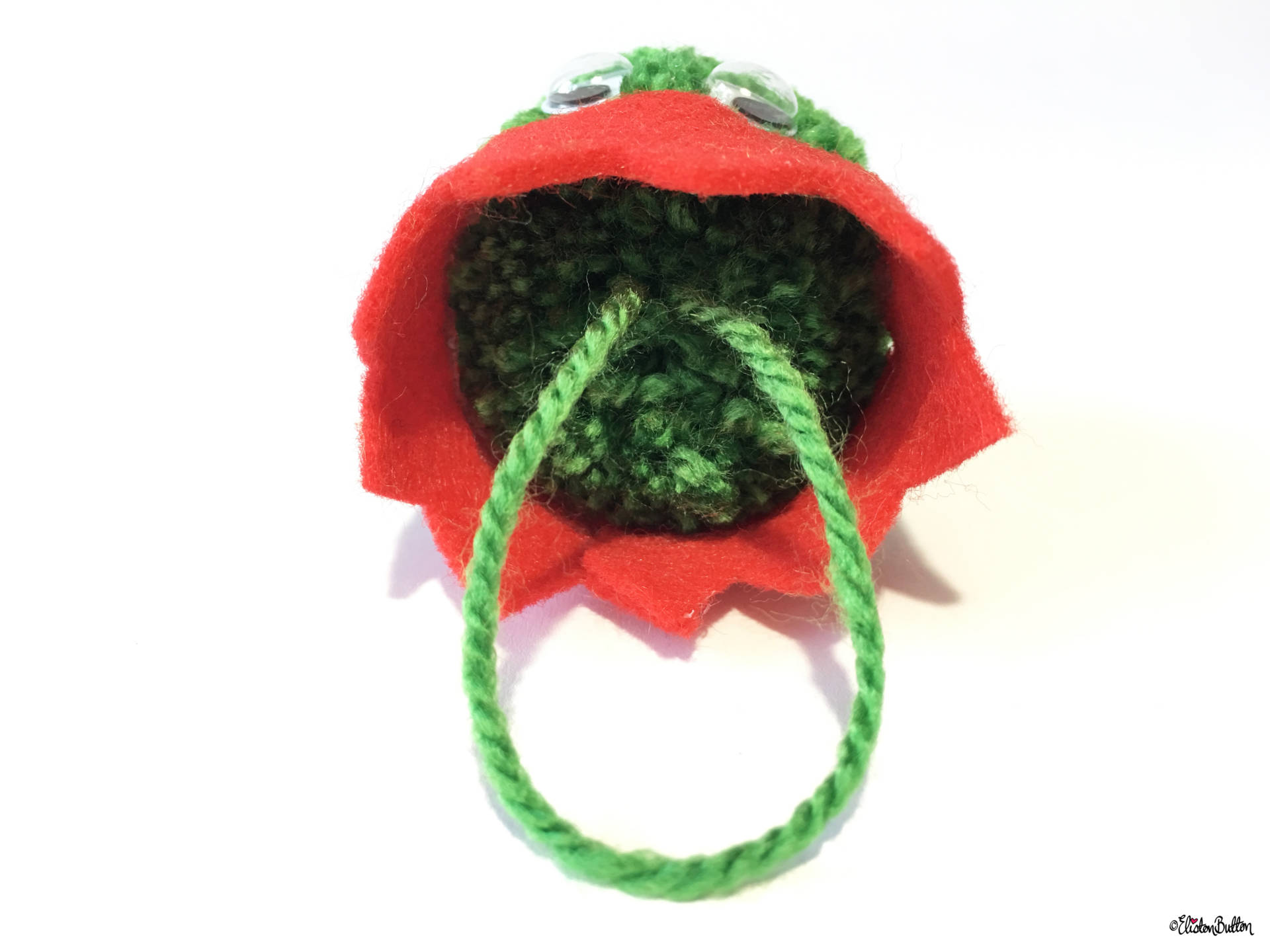 Dark Green, Red Party Hat Pom Pom Sprout Christmas Decoration - Hanging String - Create 30 - No. 8 & 9 - Christmas Sprout Garland and Decorations at www.elistonbutton.com - Eliston Button - That Crafty Kid – Art, Design, Craft & Adventure.