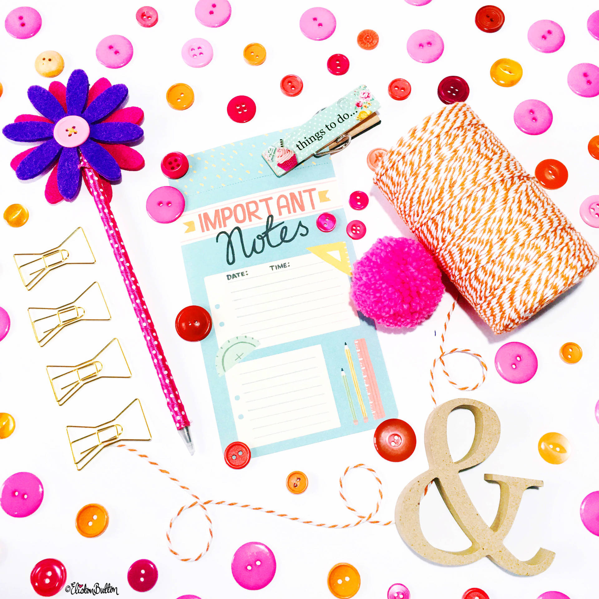 Day 24 - Blank - Stationery Flatlay - Photo-a-Day – October 2016 at www.elistonbutton.com - Eliston Button - That Crafty Kid – Art, Design, Craft & Adventure.