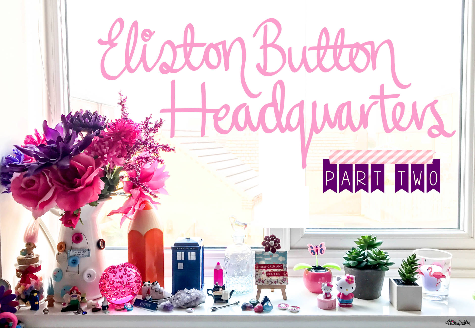 Eliston Button Headquarters - Part Two Title Banner - Eliston Button Headquarters – Part Two at www.elistonbutton.com - Eliston Button - That Crafty Kid – Art, Design, Craft & Adventure.