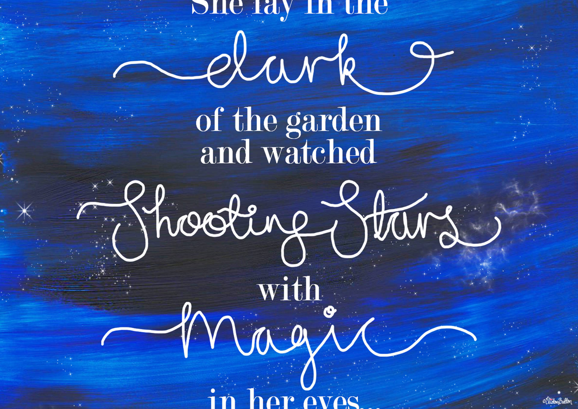 Shooting Star Magic Quote Print with Painted Night Sky Background by Eliston Button - Middle Section - Create 30 - No. 23 - Shooting Star Quote Print at www.elistonbutton.com - Eliston Button - That Crafty Kid – Art, Design, Craft & Adventure.