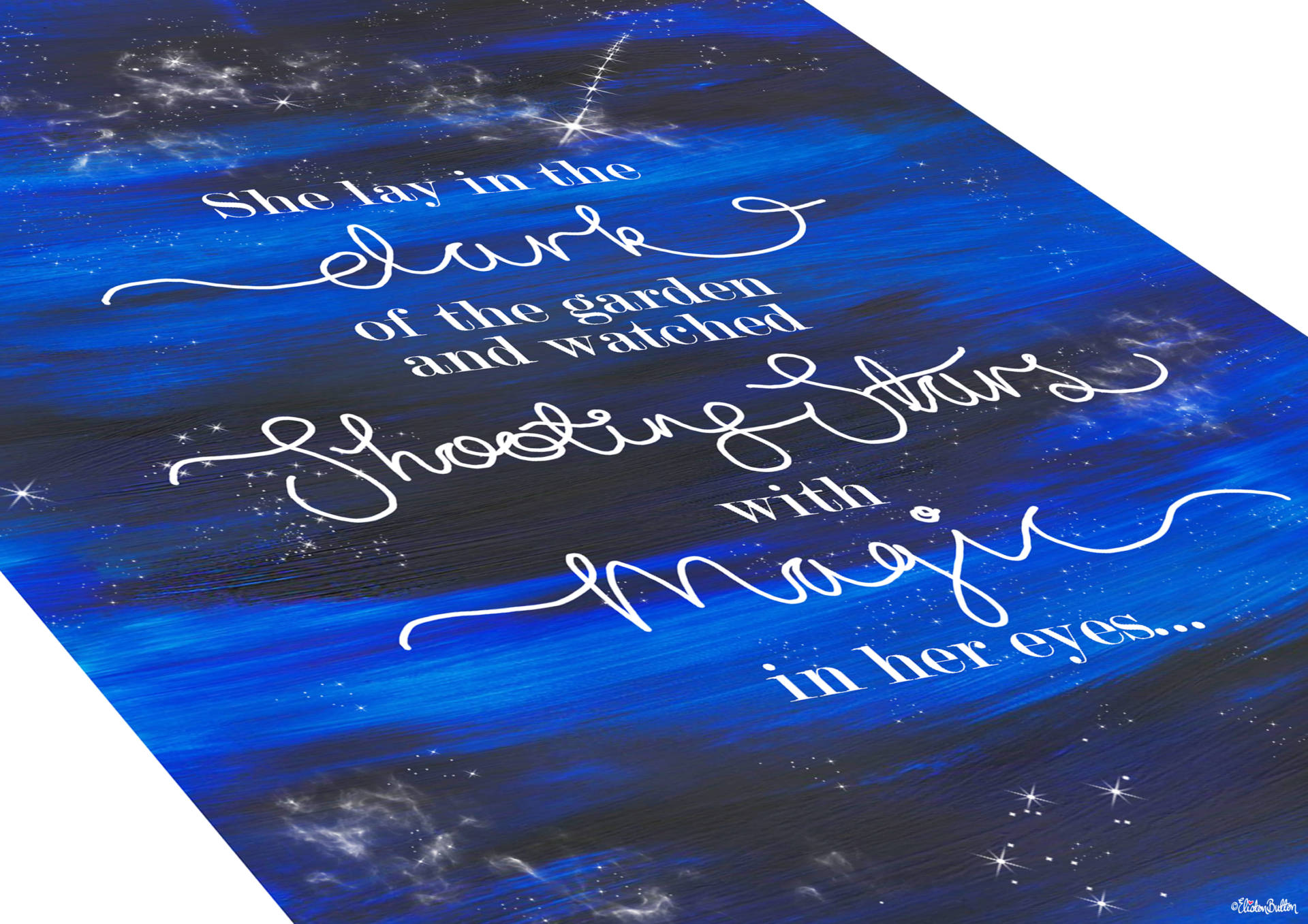 Shooting Star Quote Print with Painted Night Sky Background by Eliston Button - Texture Close Up - Create 30 - No. 23 - Shooting Star Quote Print at www.elistonbutton.com - Eliston Button - That Crafty Kid – Art, Design, Craft & Adventure.