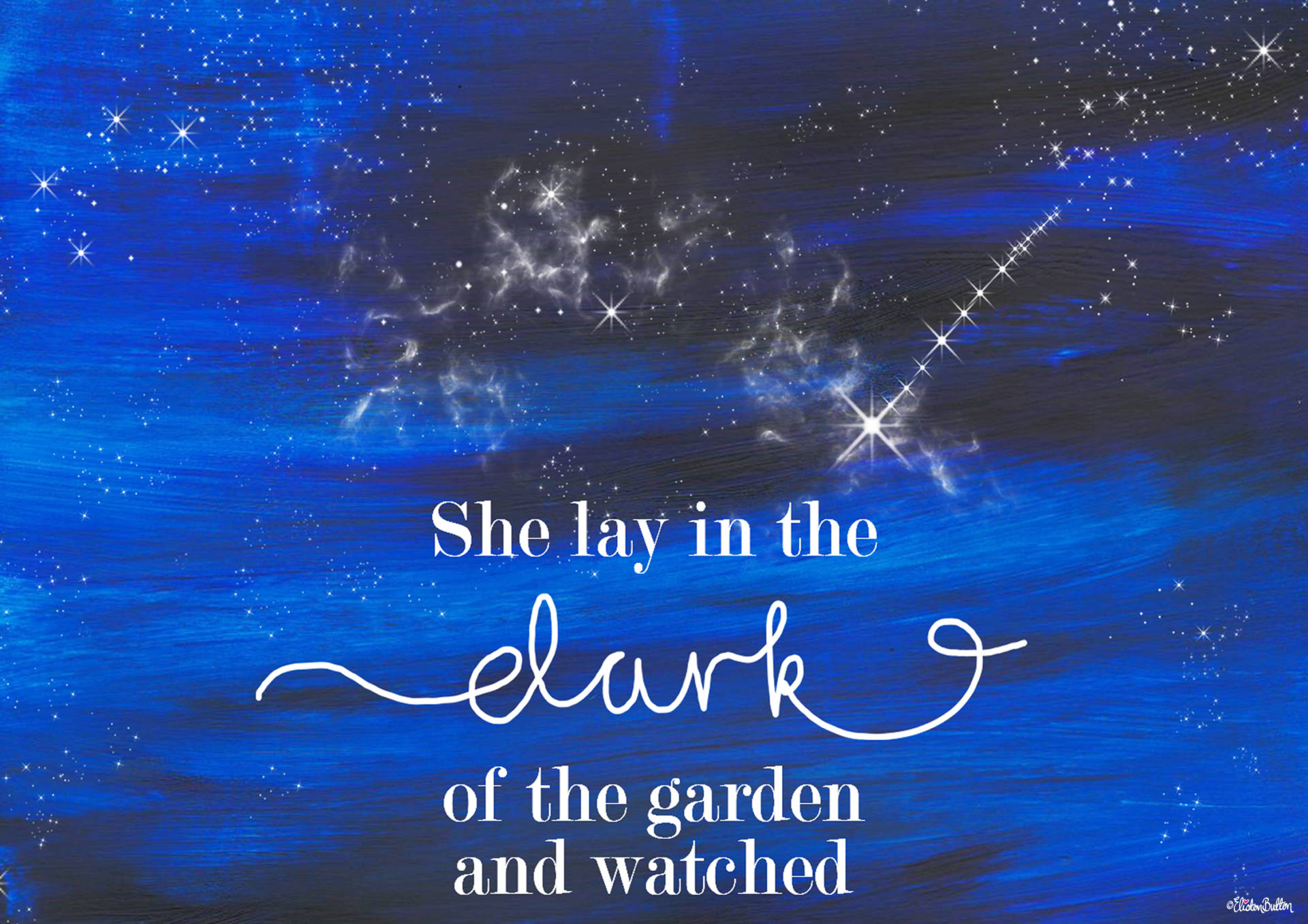 Shooting Star Quote Print with Painted Night Sky Background by Eliston Button - Top Section - Create 30 - No. 23 - Shooting Star Quote Print at www.elistonbutton.com - Eliston Button - That Crafty Kid – Art, Design, Craft & Adventure.