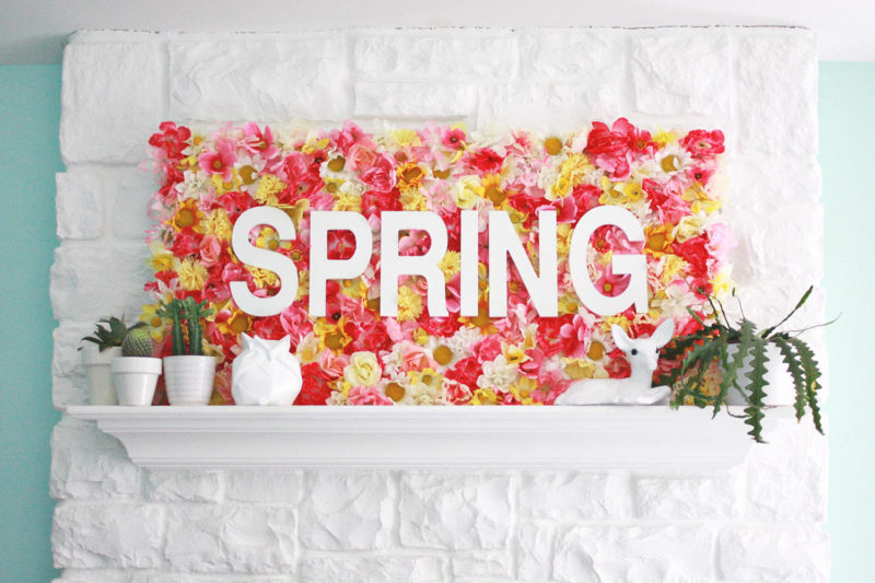 Spring Wallflowers Sign by A Beautiful Mess - For the Love of...Spring at www.elistonbutton.com - Eliston Button - That Crafty Kid – Art, Design, Craft & Adventure.