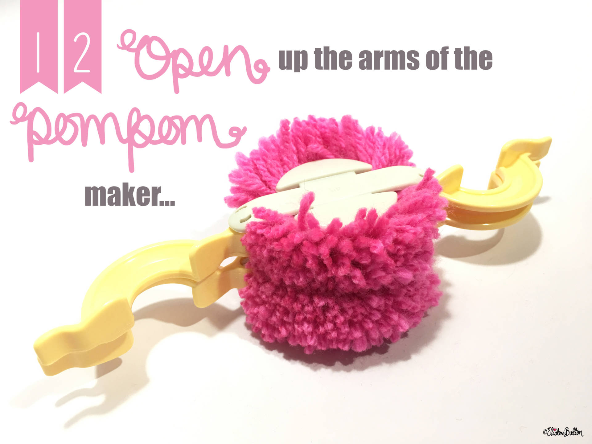12. Open Up the Arms of the Pom Pom Maker... - Tutorial Tuesday - Clover Pom Pom Maker at www.elistonbutton.com - Eliston Button - That Crafty Kid – Art, Design, Craft & Adventure.