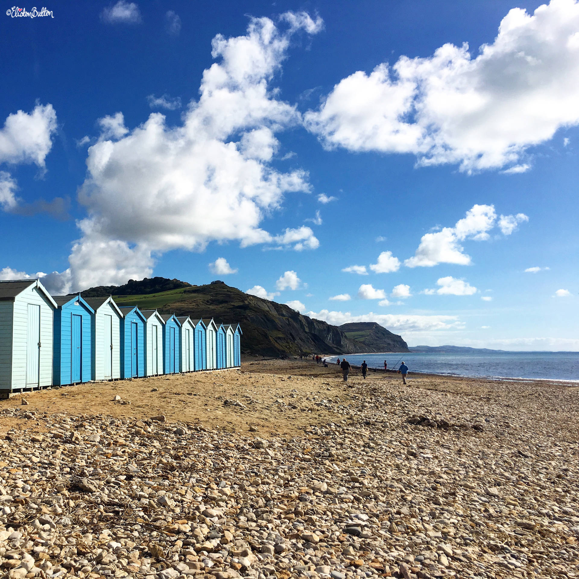 Beach Huts on the Beach at Charmouth - For the Love of…Summer at www.elistonbutton.com - Eliston Button - That Crafty Kid – Art, Design, Craft & Adventure.