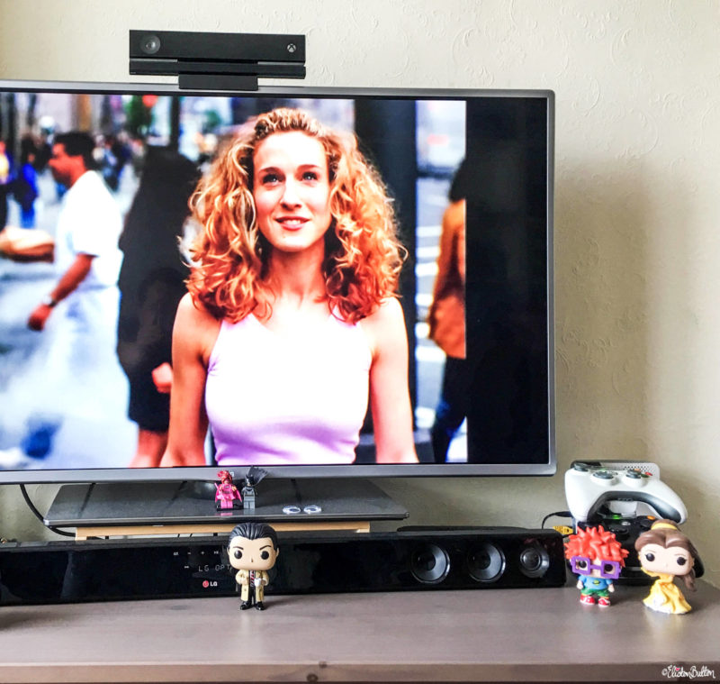 Sex and the City, Carrie Bradshaw Opening Title Screen - Around Here...I'm Back! at www.elistonbutton.com - Eliston Button - That Crafty Kid – Art, Design, Craft & Adventure.