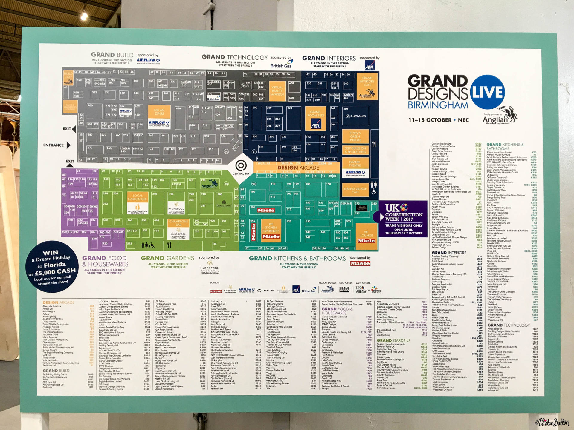 The Big Map of the Show at Grand Designs Live 2017 with Eliston Button - Grand Designs Live 2017 – Part One at www.elistonbutton.com - Eliston Button - That Crafty Kid – Art, Design, Craft & Adventure.