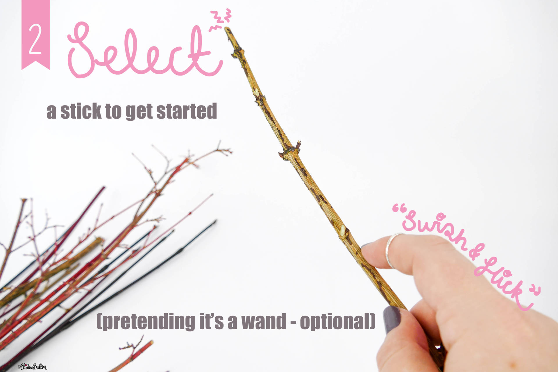 Swish and Flick - Pretending it's a Wand Optional! - Tutorial Tuesday - Simple Autumn Pom Pom Decor at www.elistonbutton.com - Eliston Button - That Crafty Kid – Art, Design, Craft & Adventure.